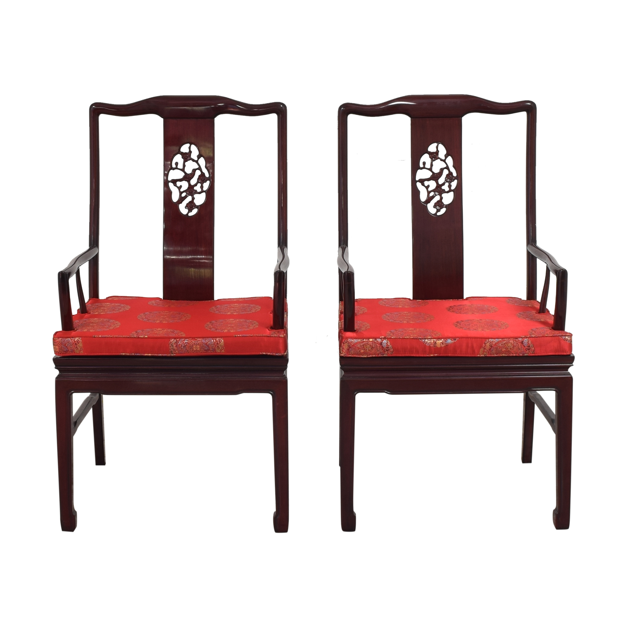 buy Chinoiserie Dining Chairs with Cushions