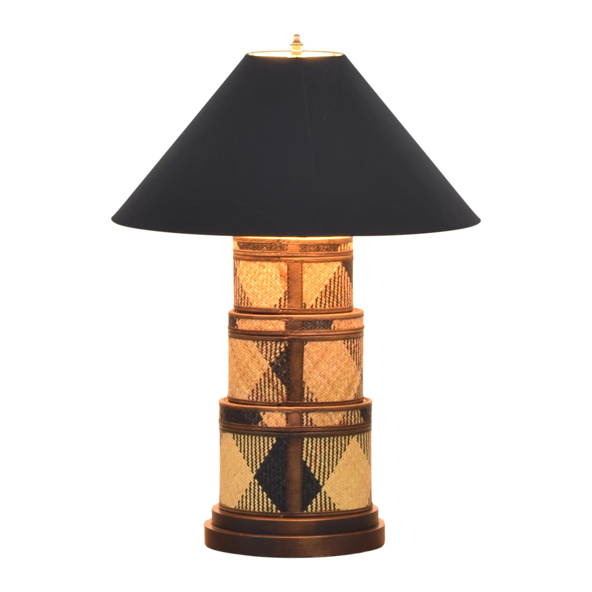 Frederick Cooper Frederick Cooper Rotating Basket Base Table Lamp used