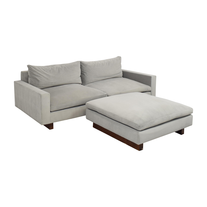 shop West Elm Harmony Sofa with Ottoman West Elm