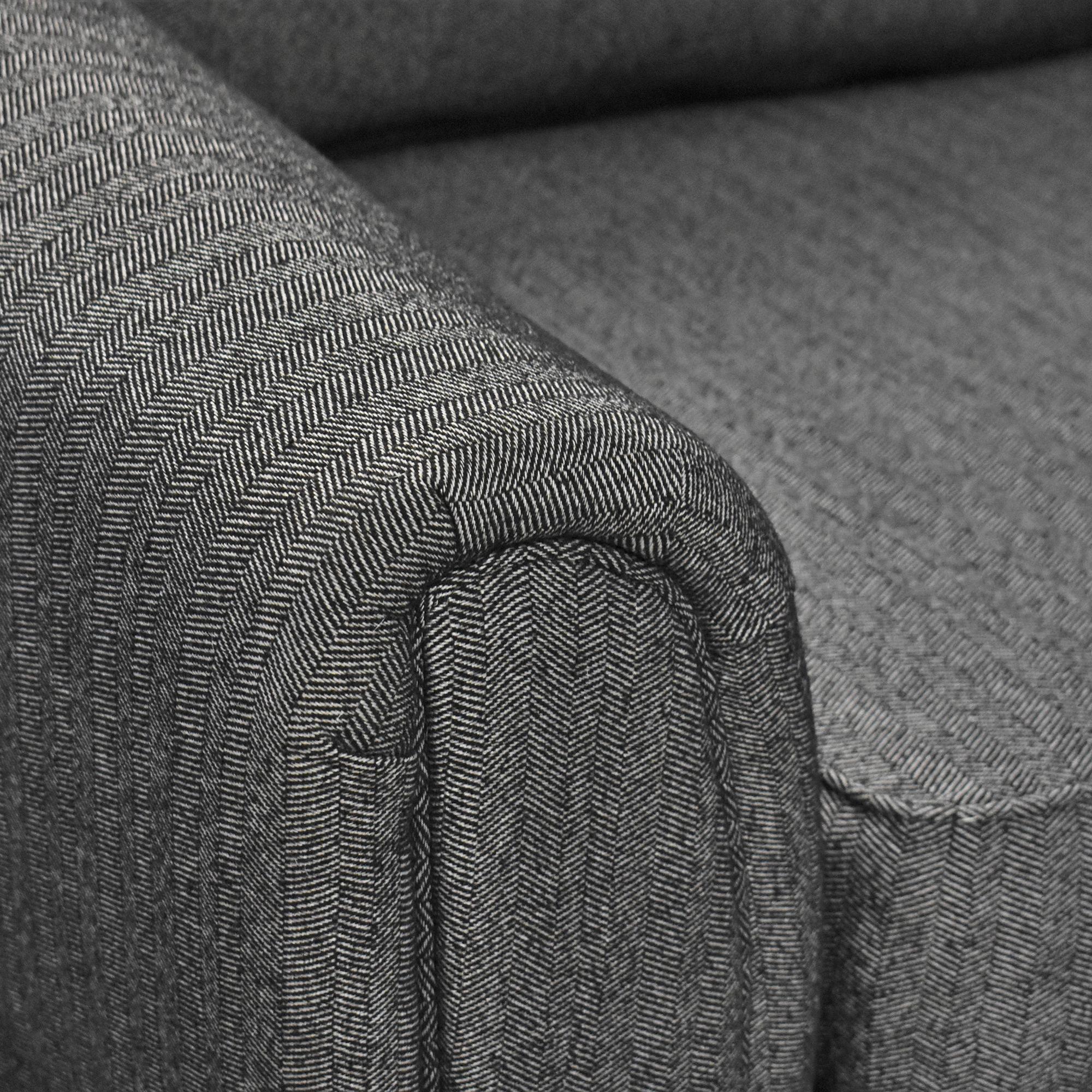 Corinthian Corinthian Contemporary Sofa with Ottoman ct