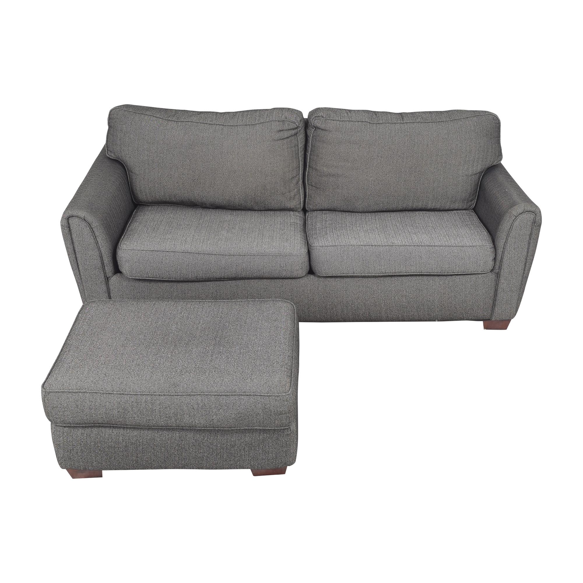 shop Corinthian Contemporary Sofa with Ottoman Corinthian Classic Sofas