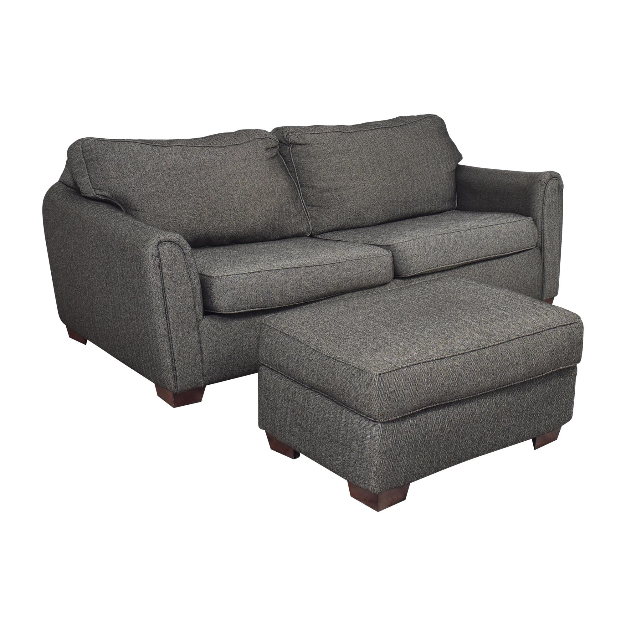 Corinthian Corinthian Contemporary Sofa with Ottoman