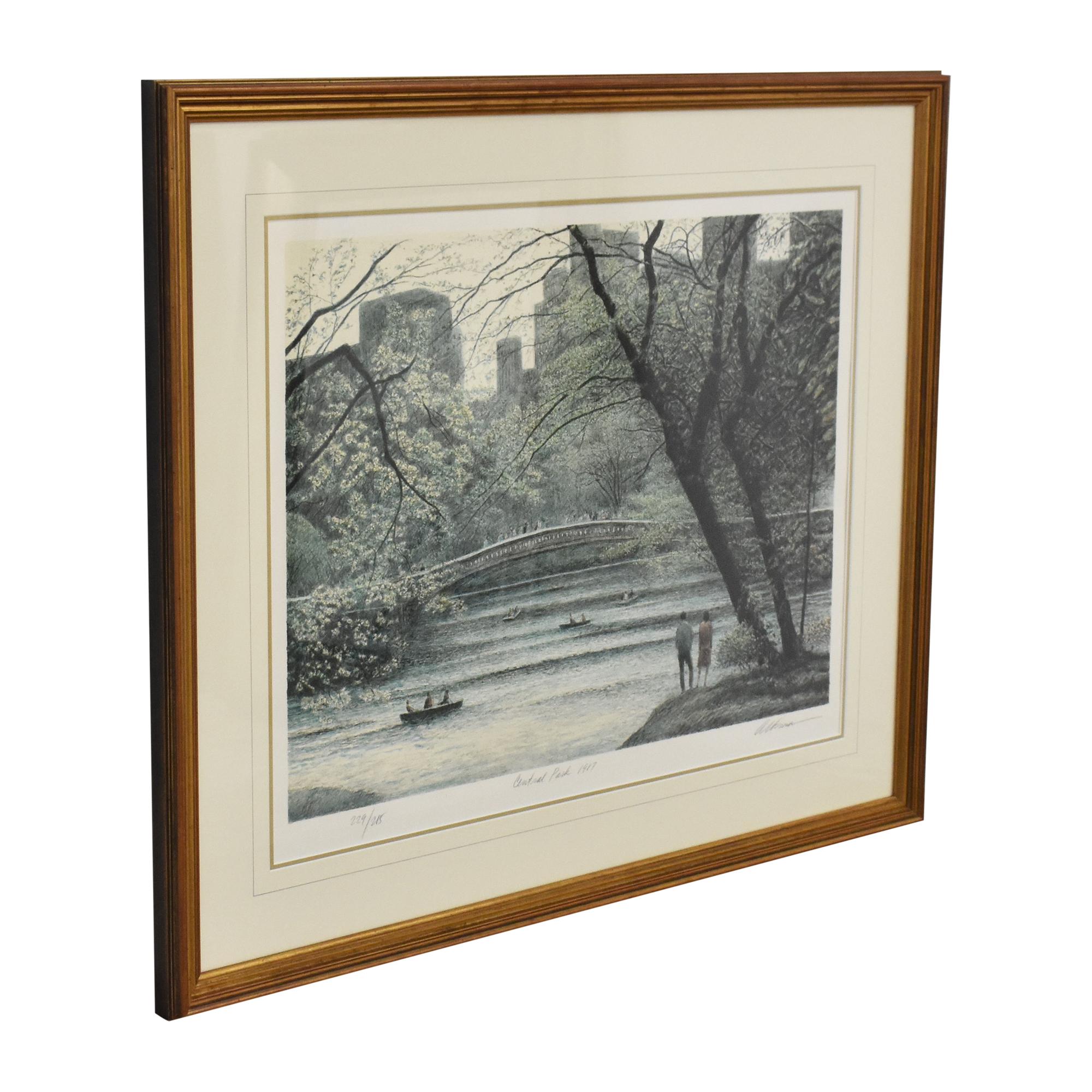 Harold Altman Central Park 1987 New York Print for sale