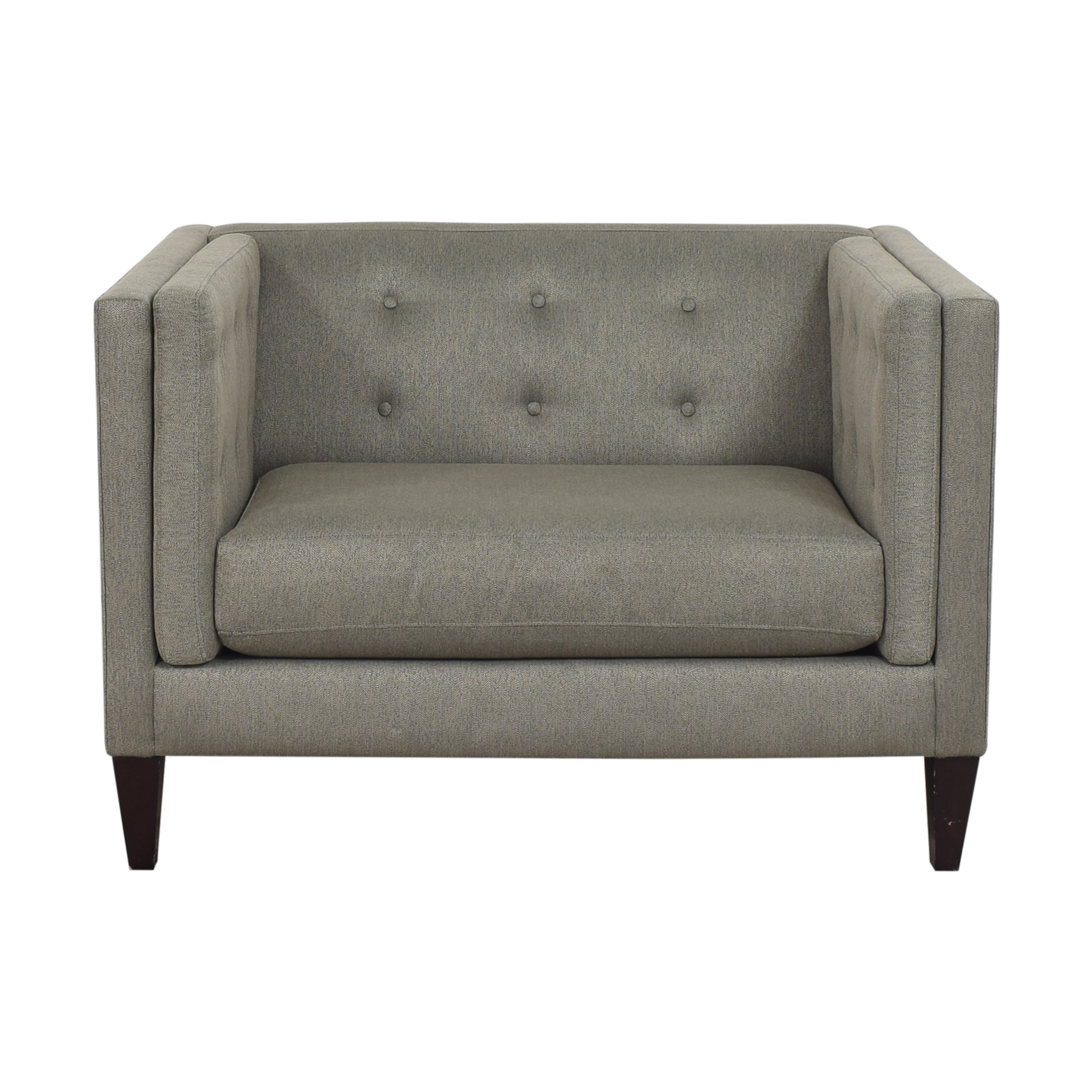 Crate & Barrel Aidan Tufted Chair and a Half / Chairs