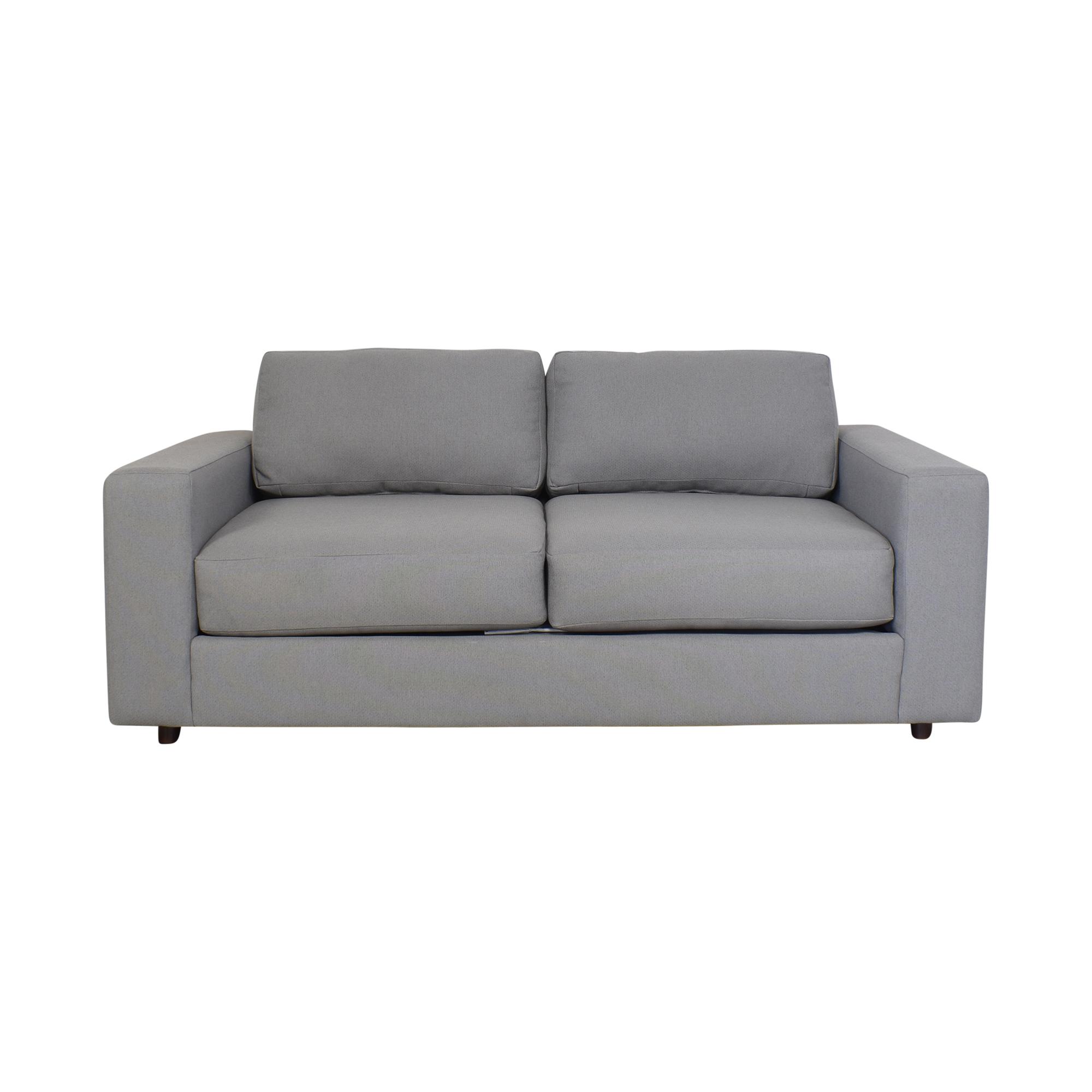 West Elm West Elm Urban Two Cushion Sofa ct
