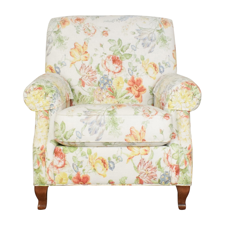 shop Ethan Allen Floral Accent Chair Ethan Allen