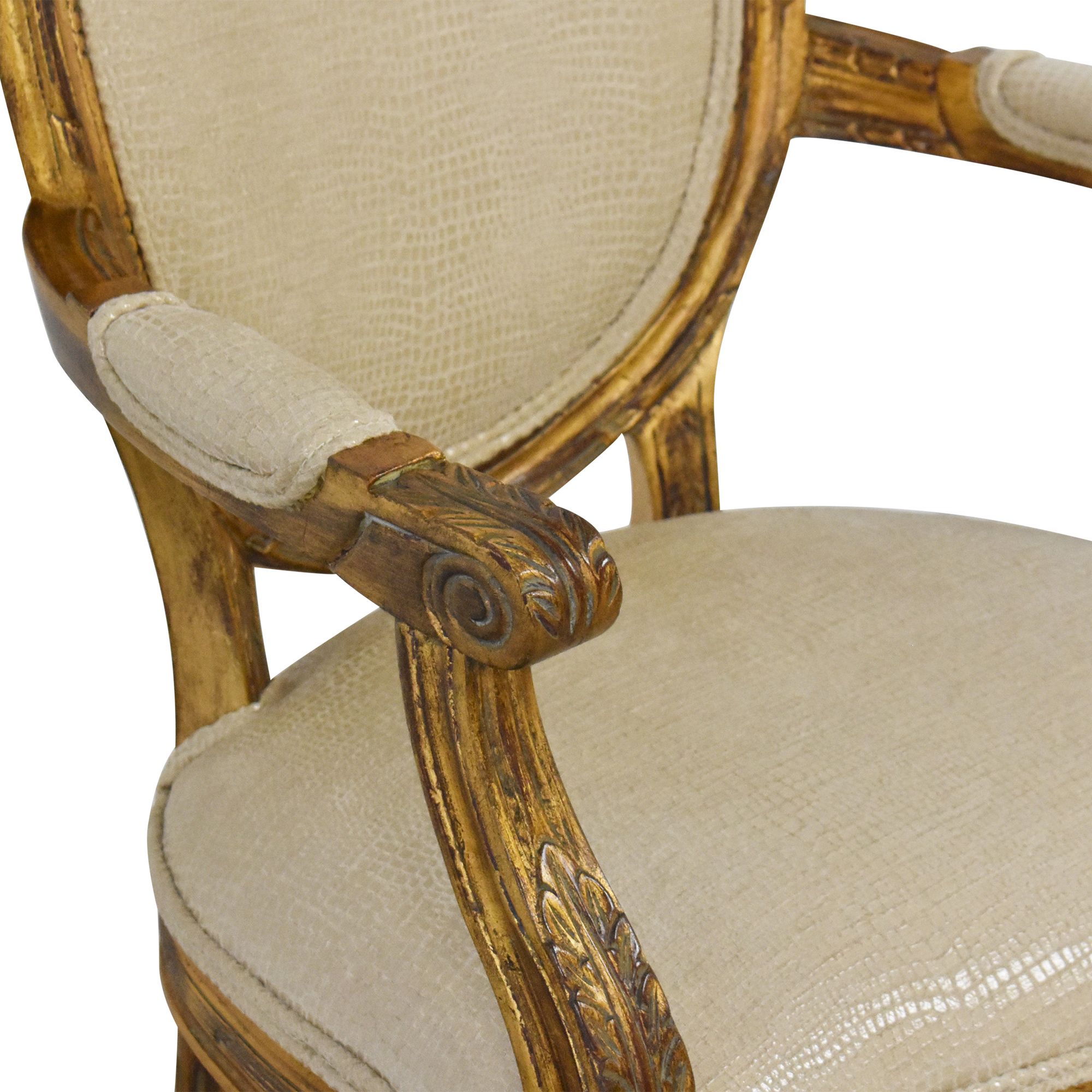 Carved French-Style Arm Chair ct