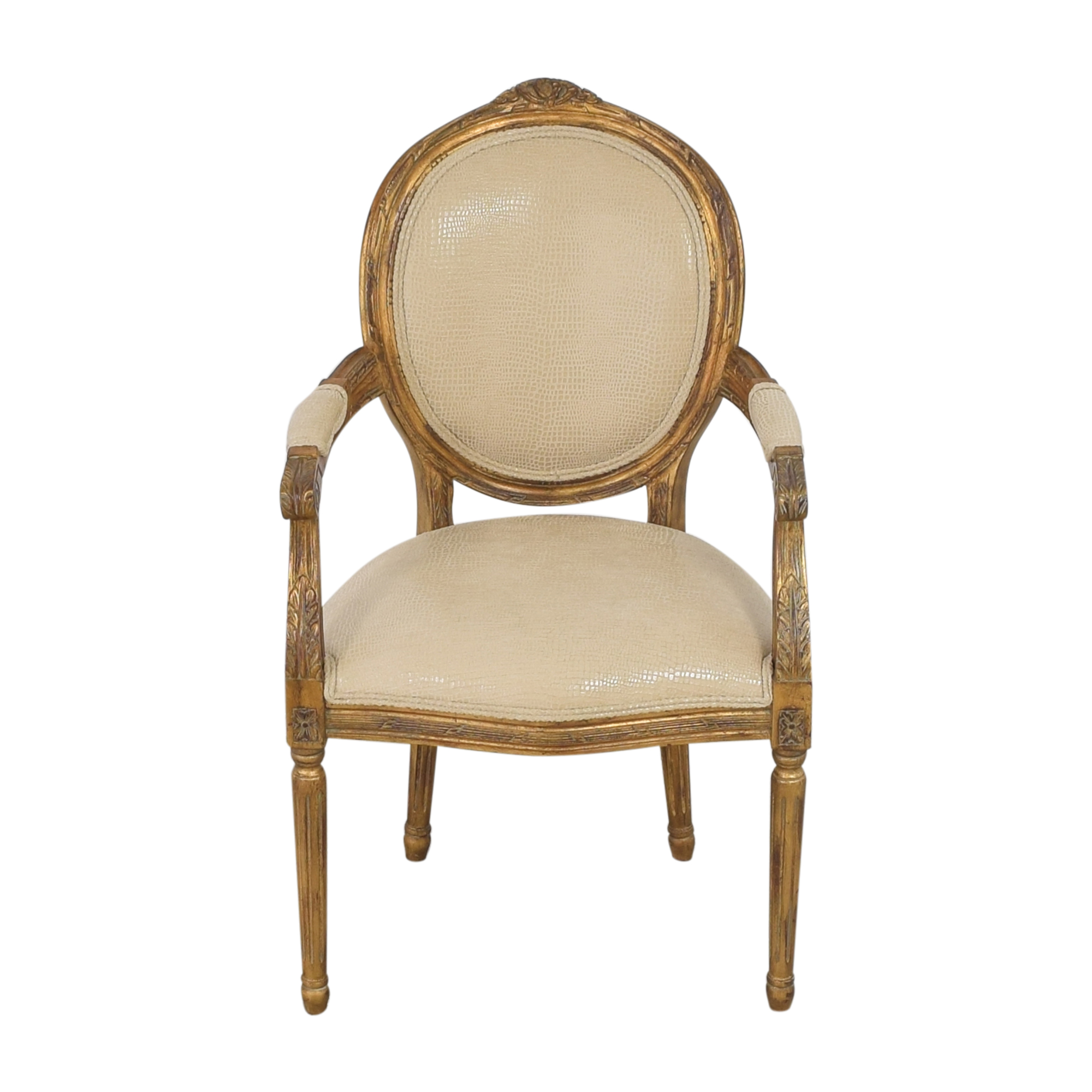 Carved French-Style Arm Chair Accent Chairs
