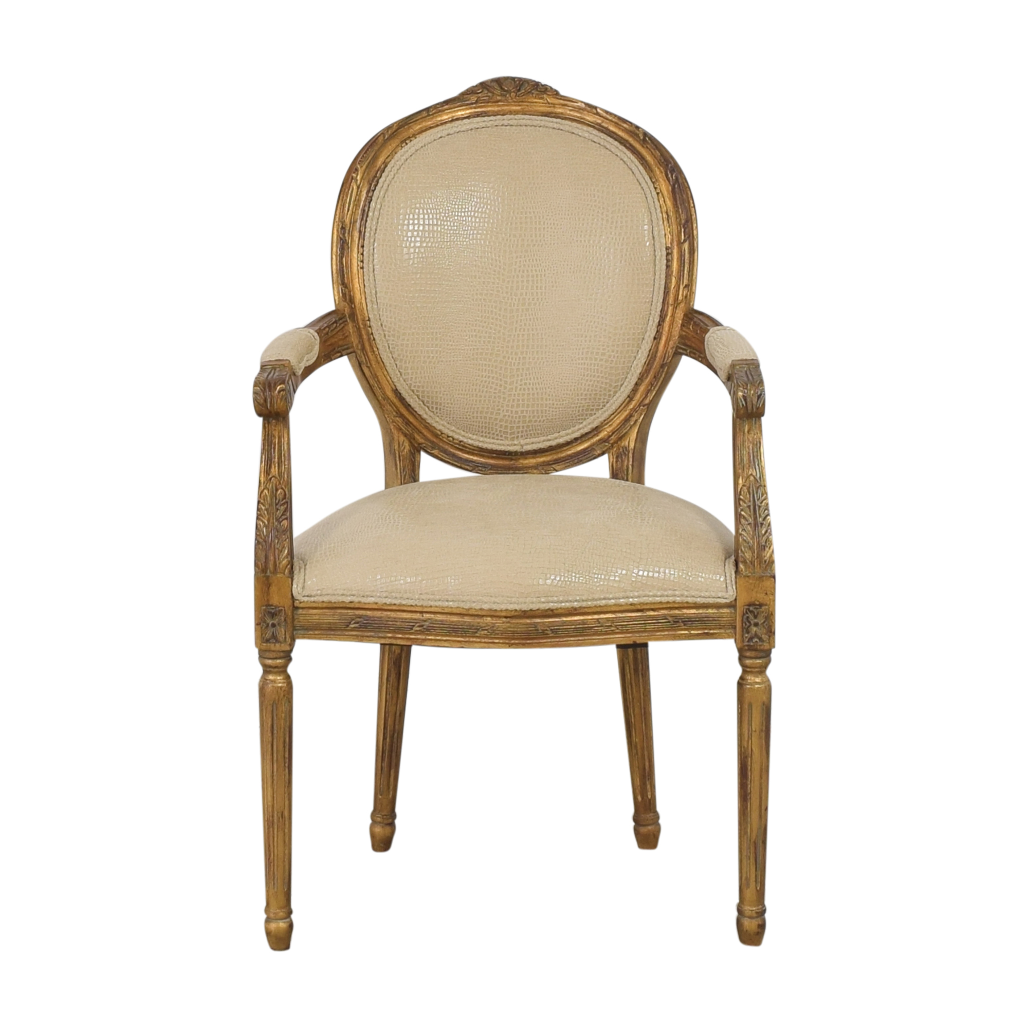 buy Carved French-Style Arm Chair  Accent Chairs