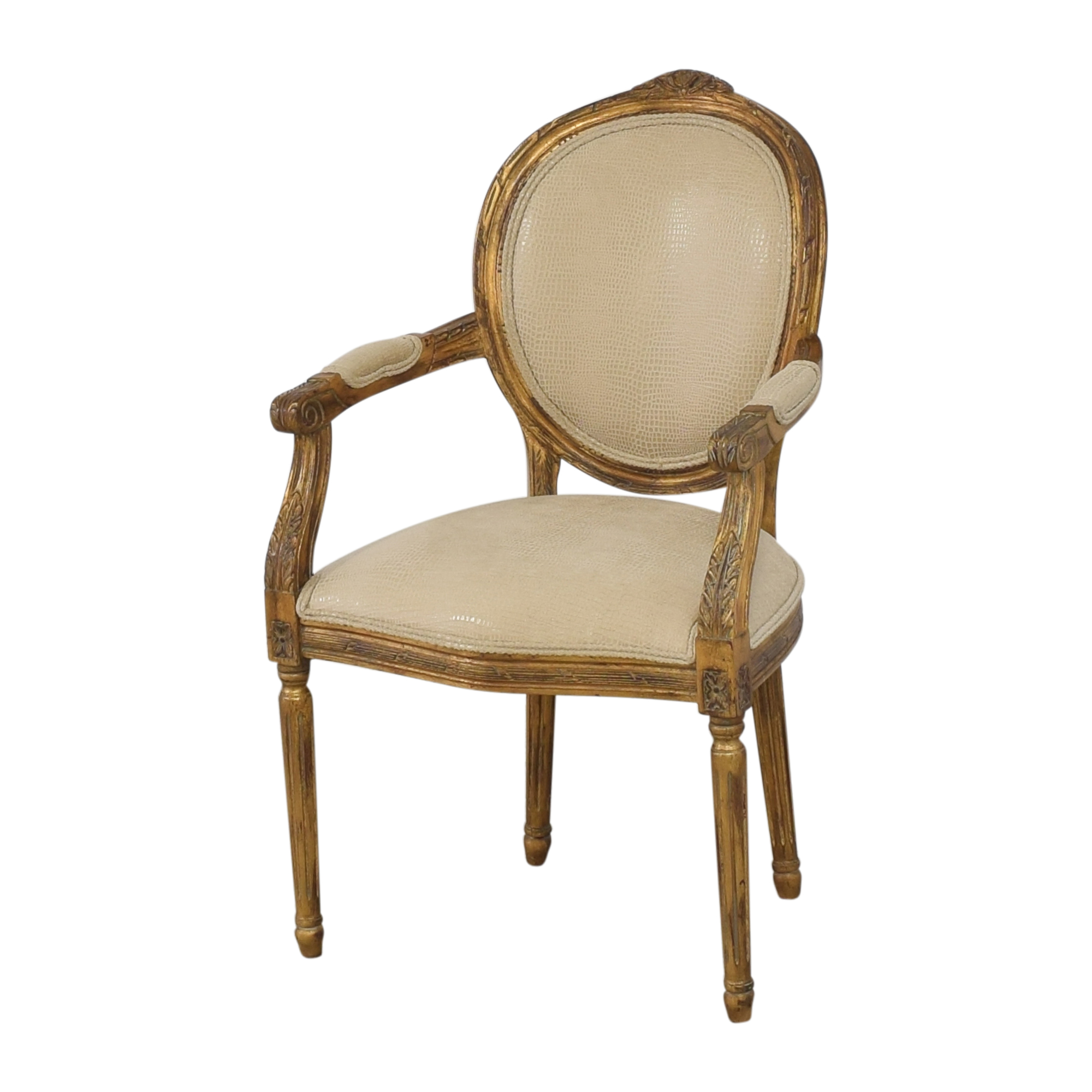 shop Carved French-Style Arm Chair  Chairs