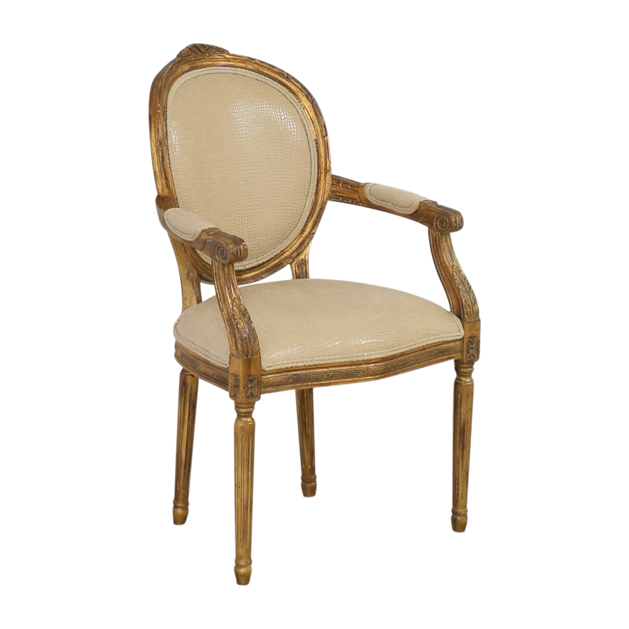 Carved French-Style Arm Chair sale