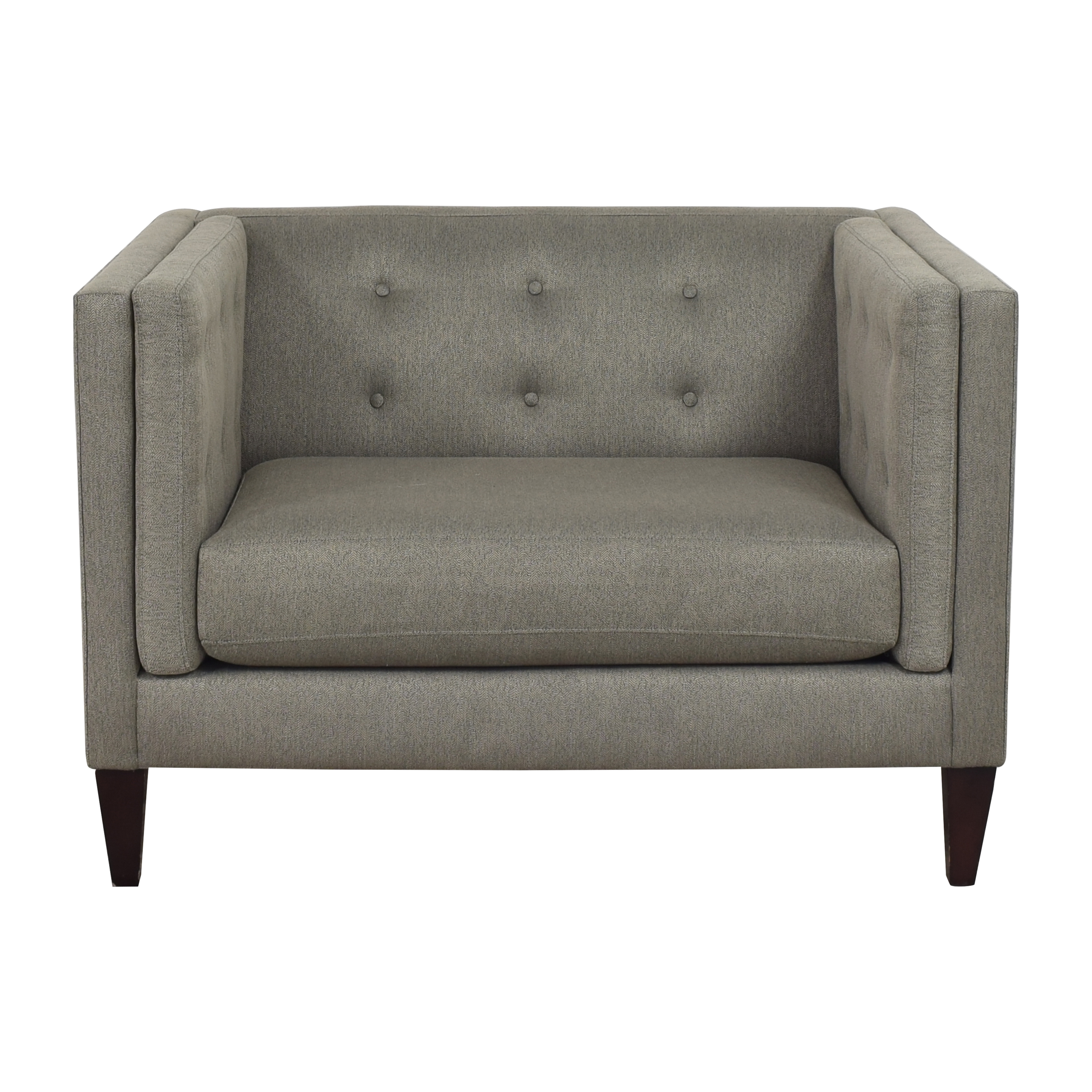 Crate & Barrel Crate & Barrel Aidan Tufted Chair and a Half price