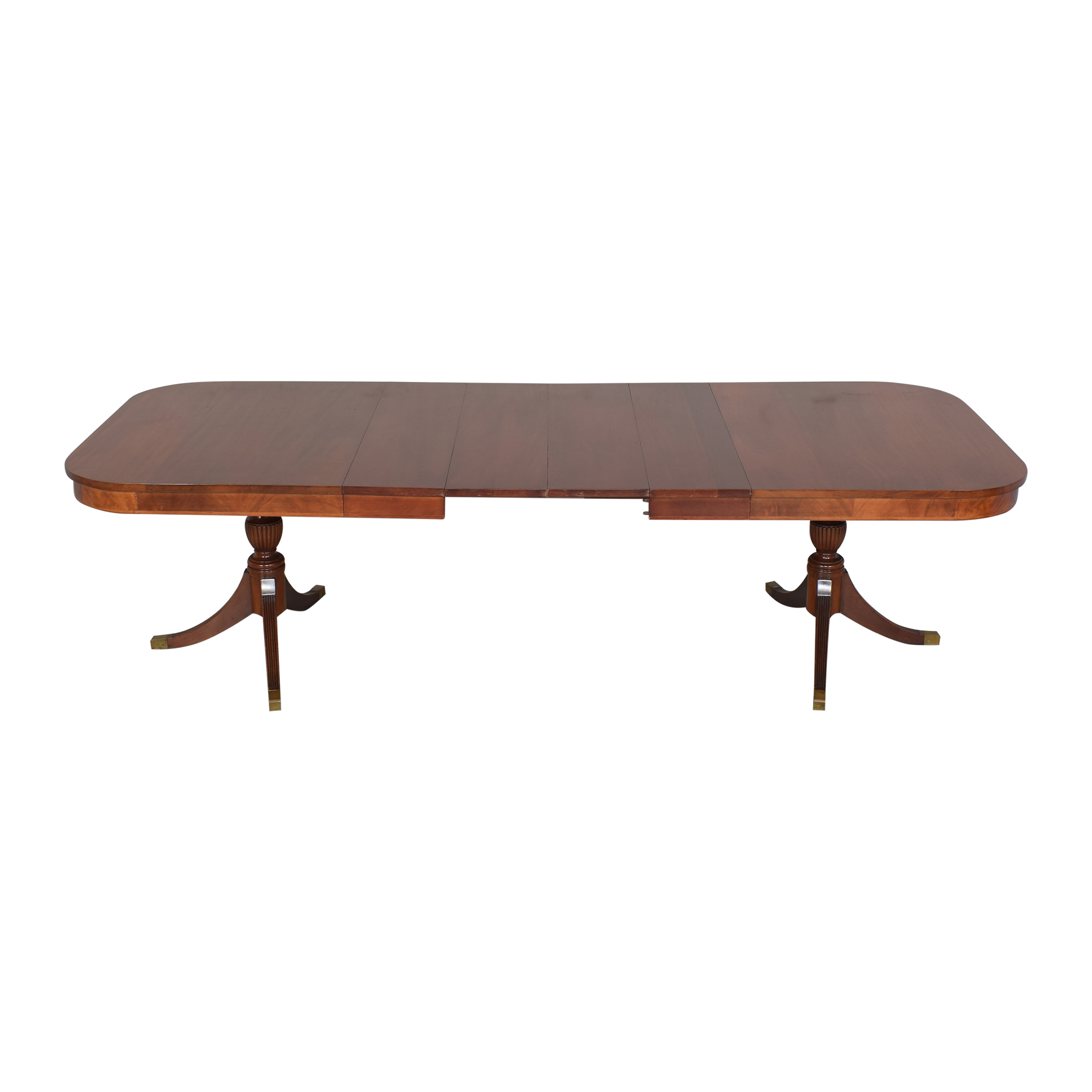 Extendable Double Pedestal Dining Table