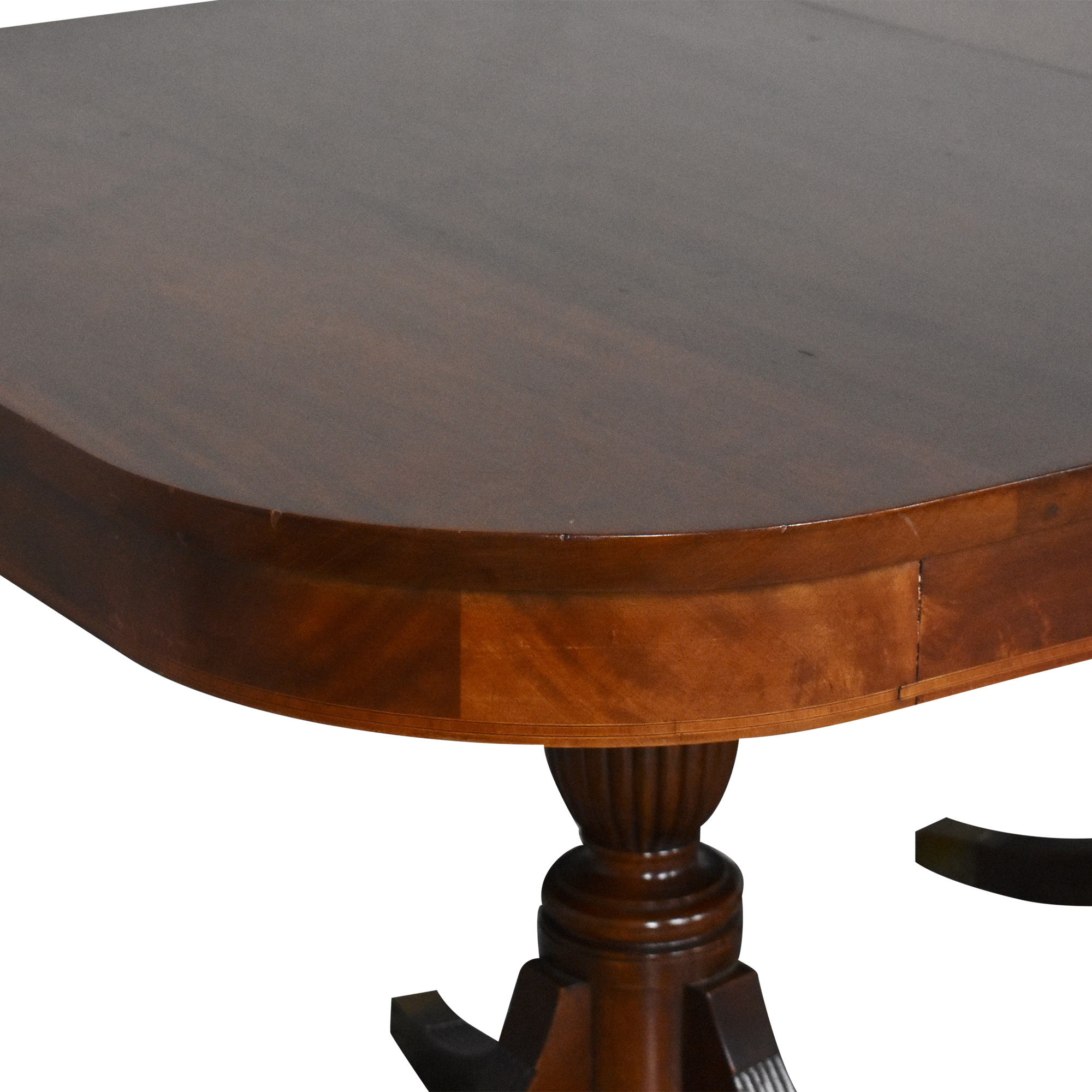 Extendable Double Pedestal Dining Table for sale