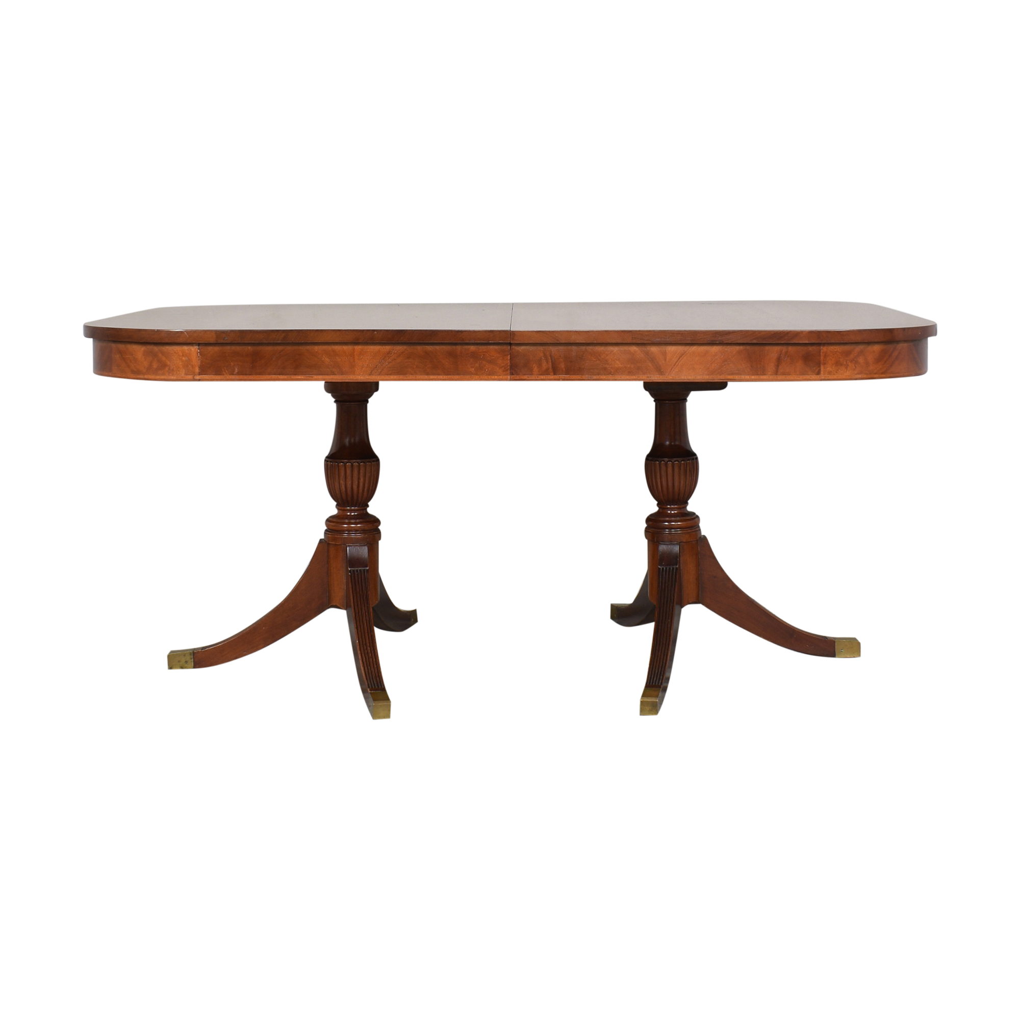 Extendable Double Pedestal Dining Table Tables
