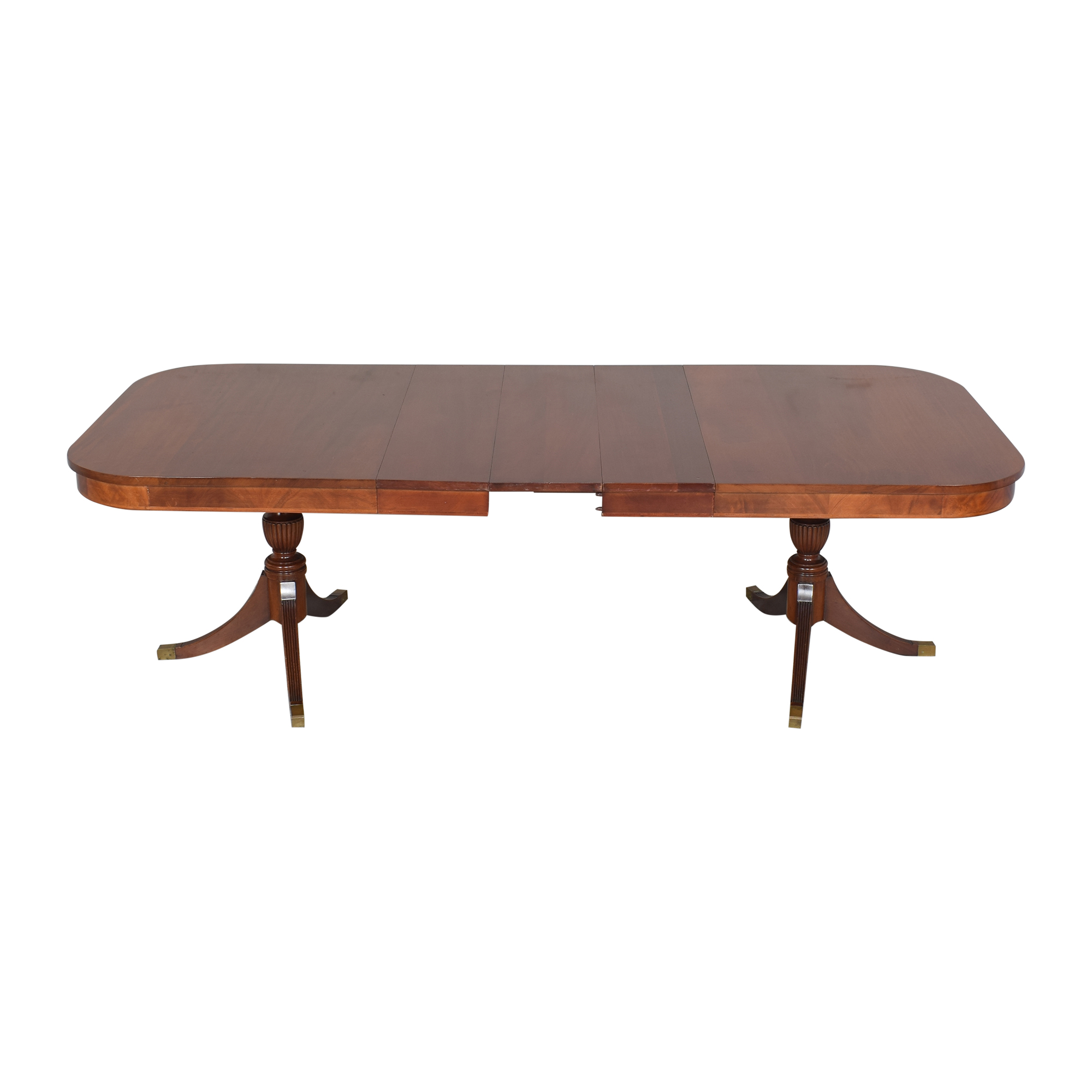 Extendable Double Pedestal Dining Table discount