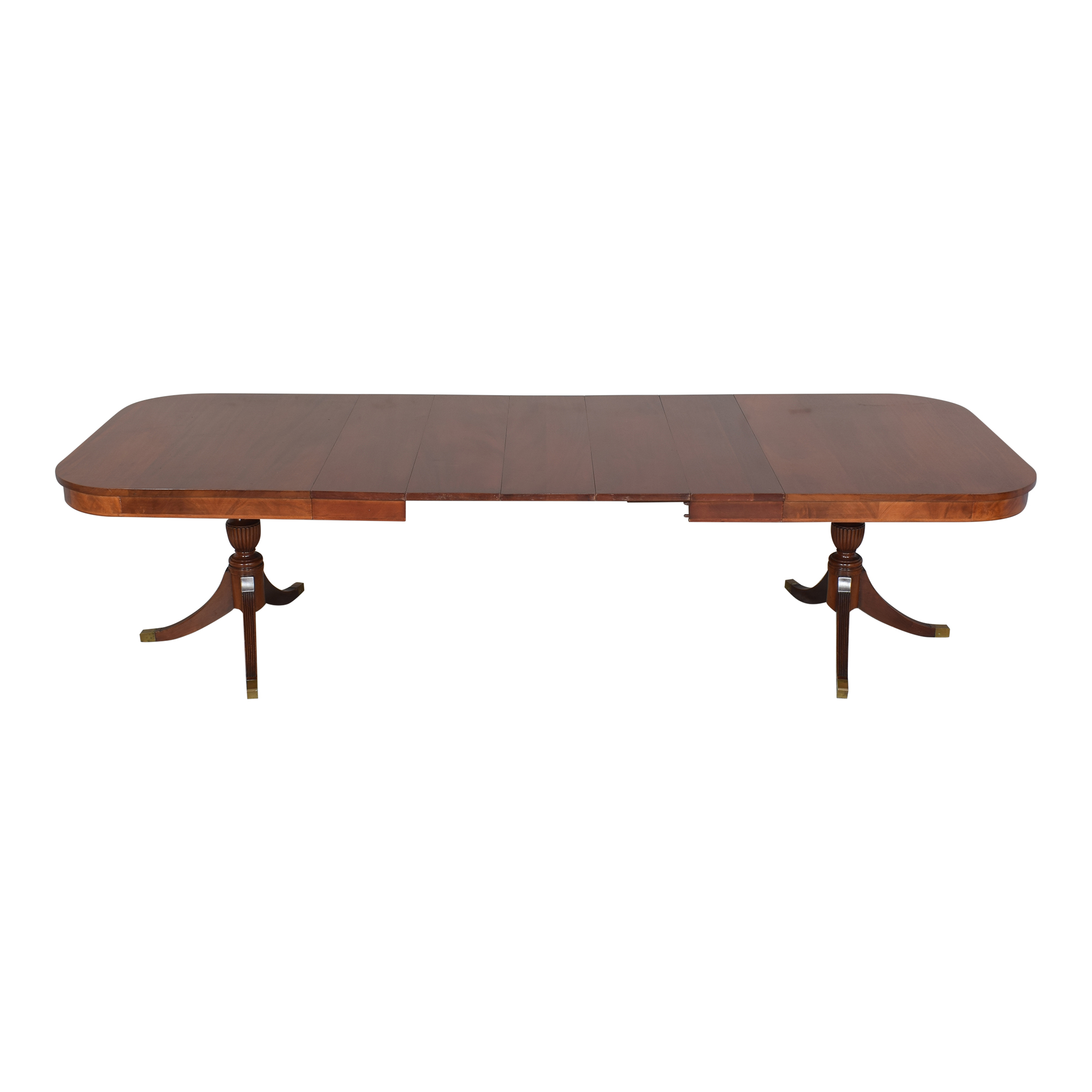 buy Extendable Double Pedestal Dining Table