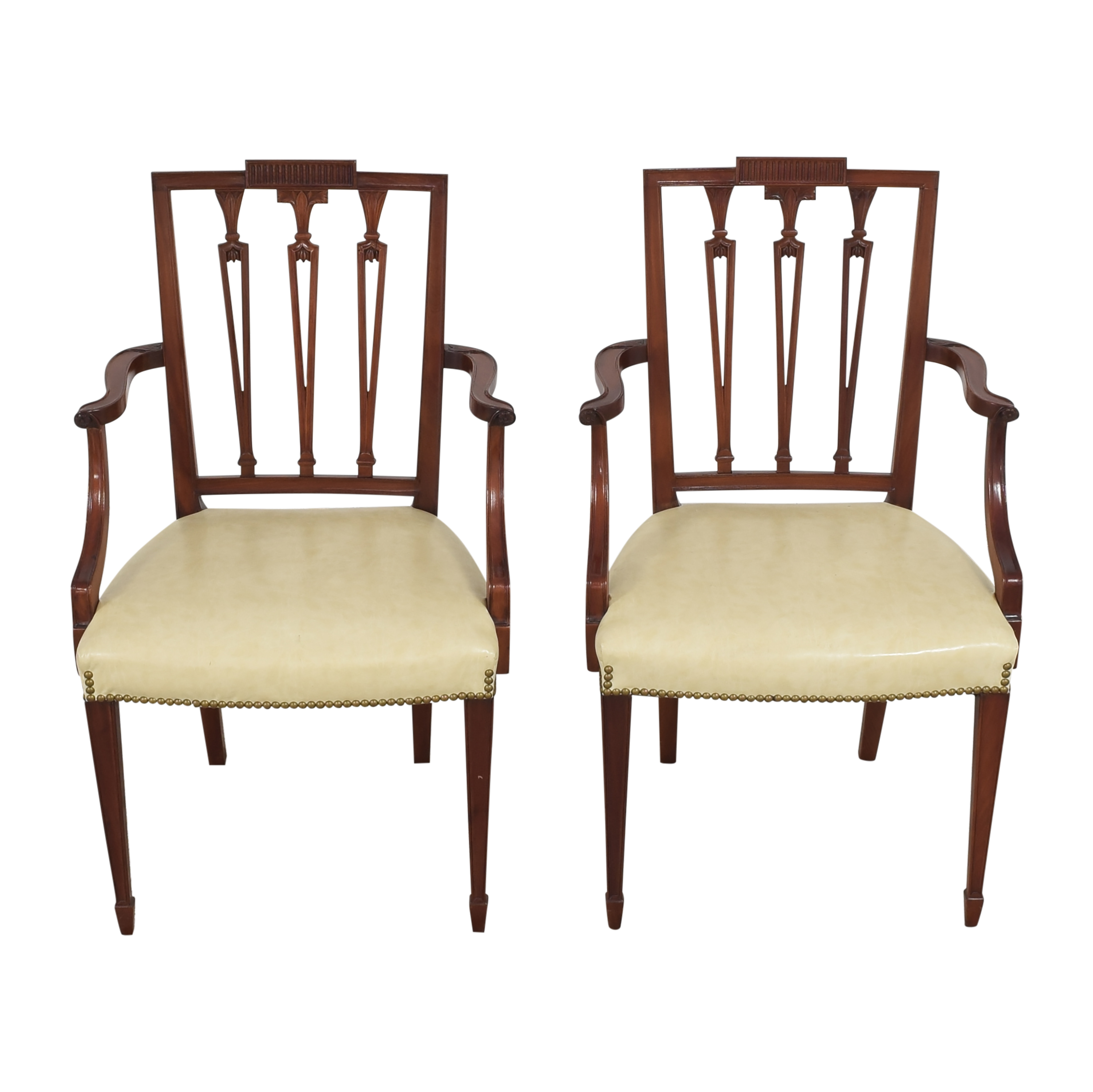 Upholstered Dining Arm Chairs for sale