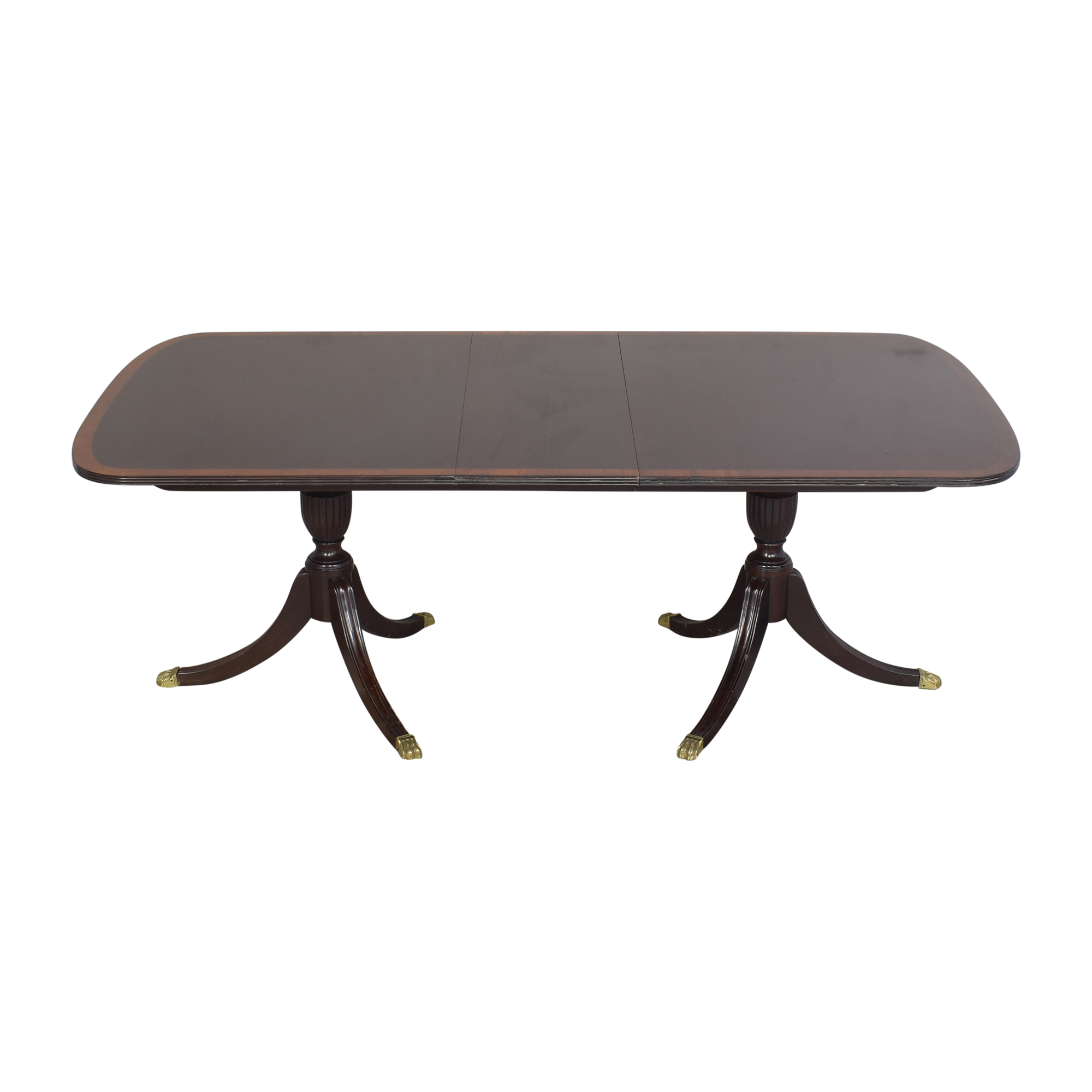 Stickley Furniture Extendable Double Pedestal Dining Table / Dinner Tables