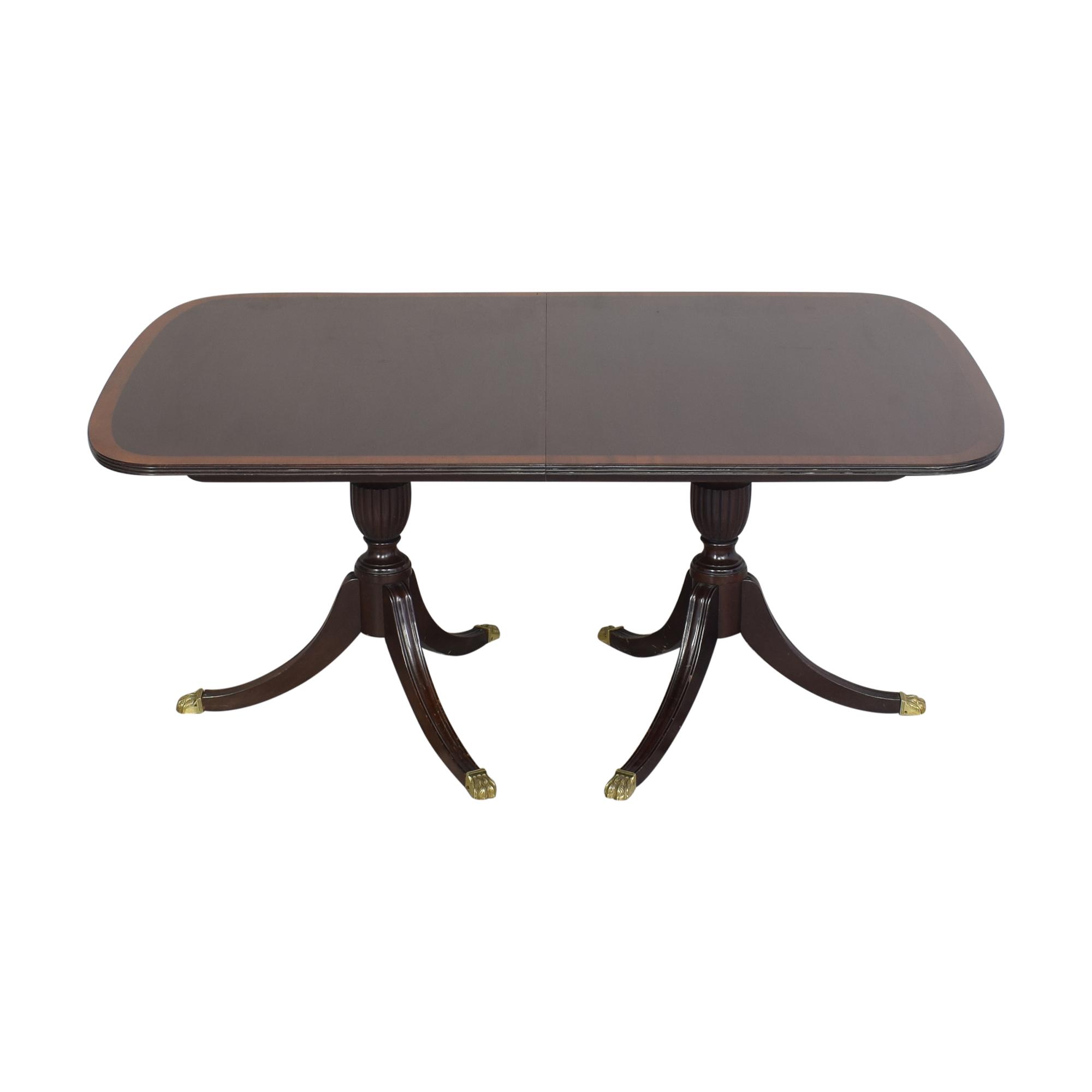 shop Stickley Furniture Extendable Double Pedestal Dining Table Stickley Furniture