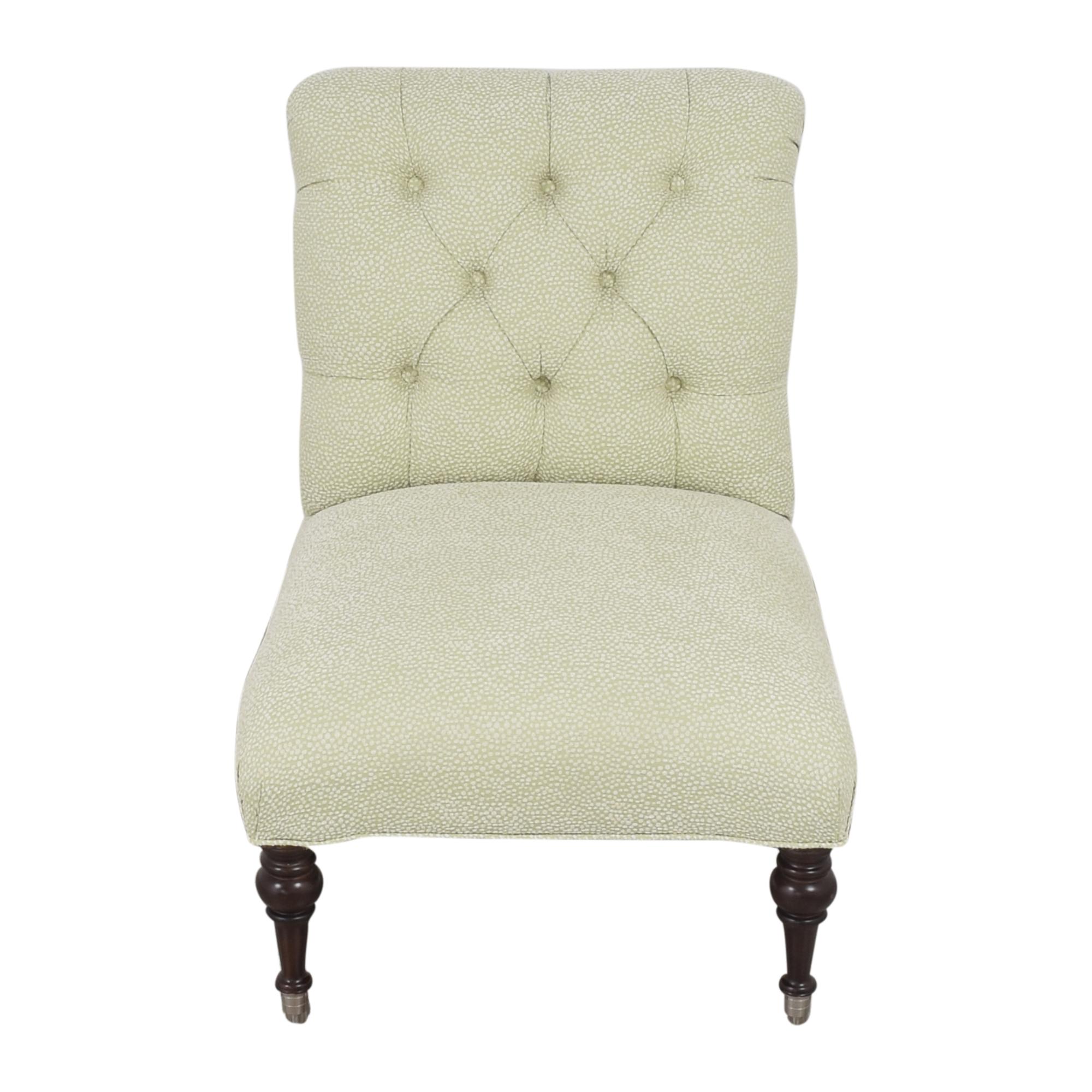 Tufted Slipper Chair sale