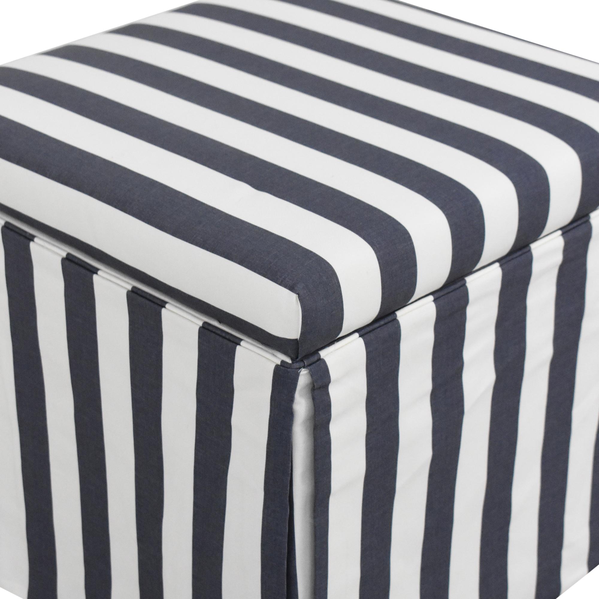 buy The Inside The Inside Cabana Stripe Skirted Storage Ottoman online