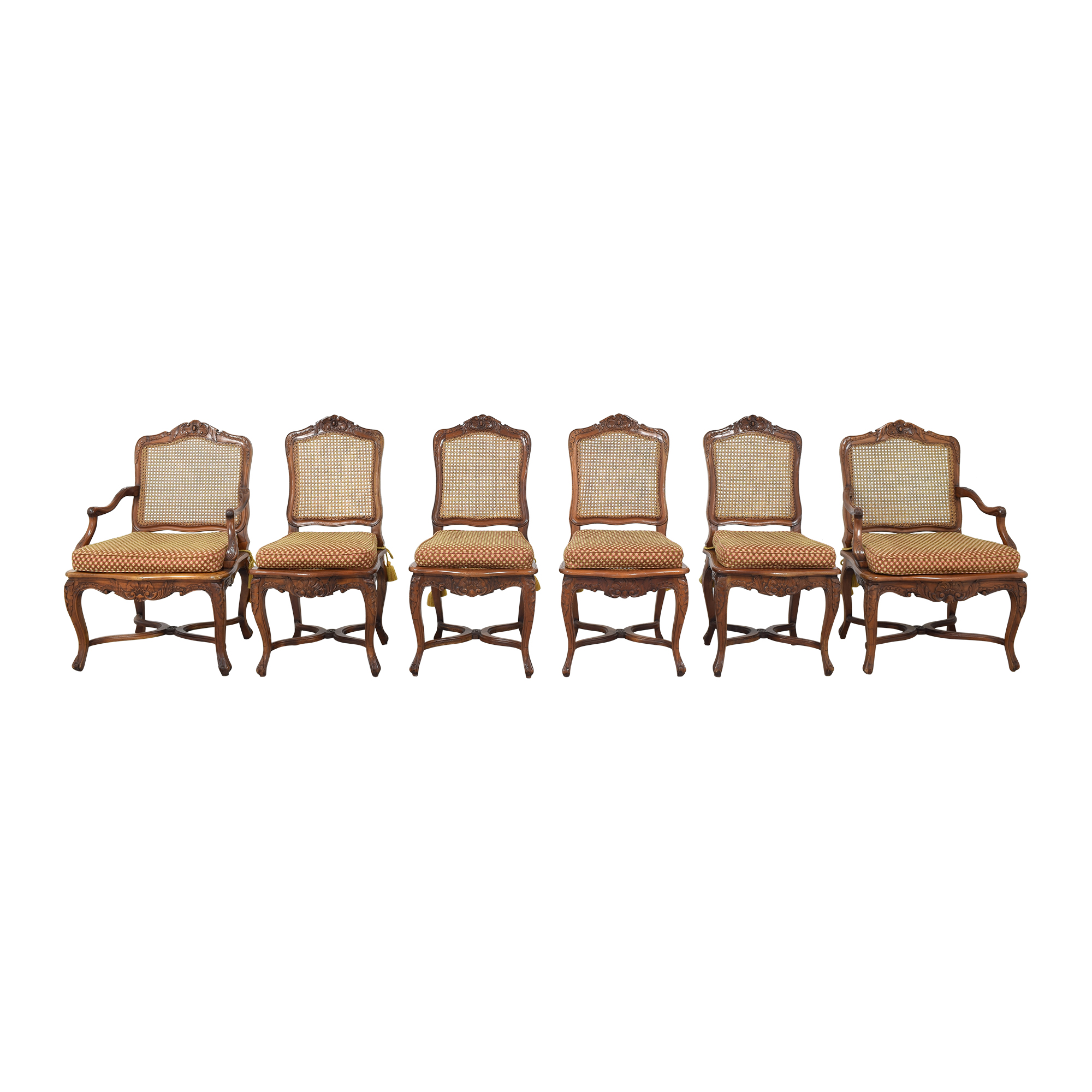 Custom Cane Back Dining Chairs ct