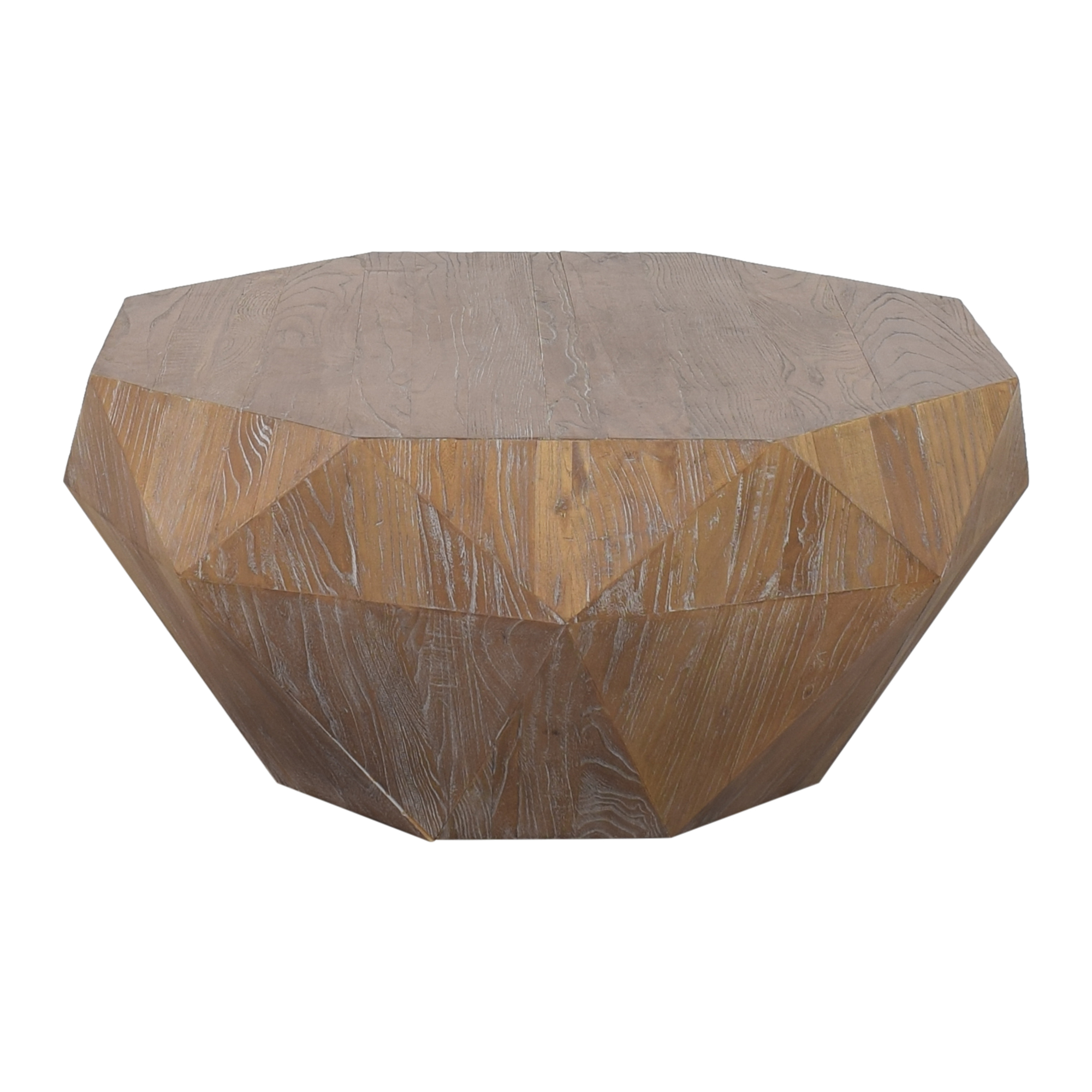 shop West Elm Reclaimed Faceted Coffee Table West Elm