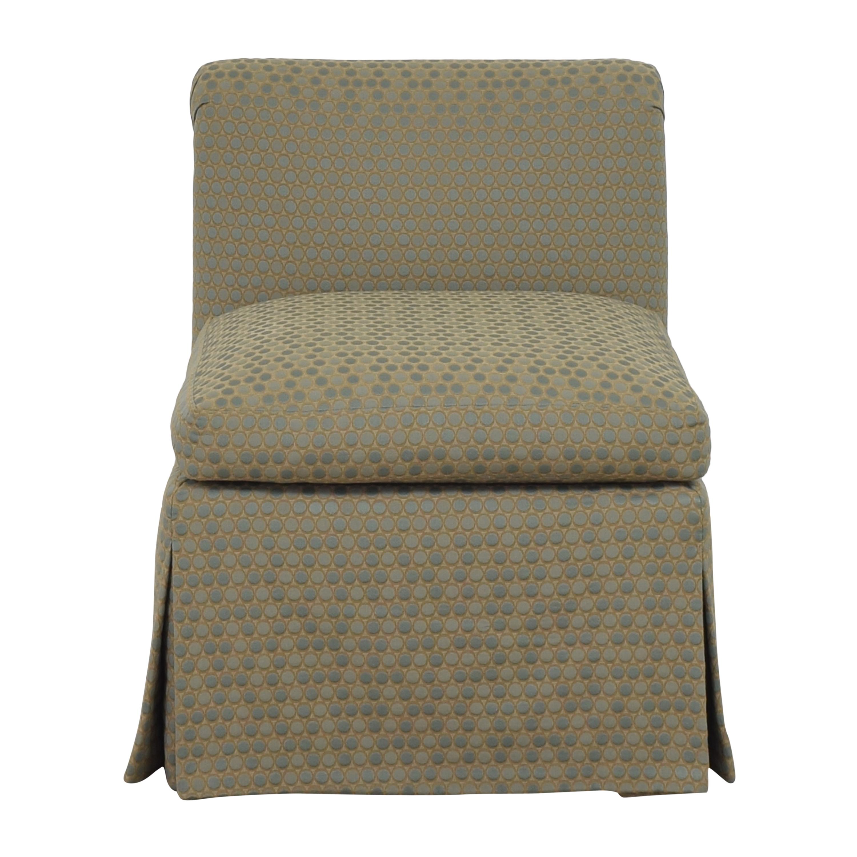 Custom Scroll Back Slipper Chair dimensions