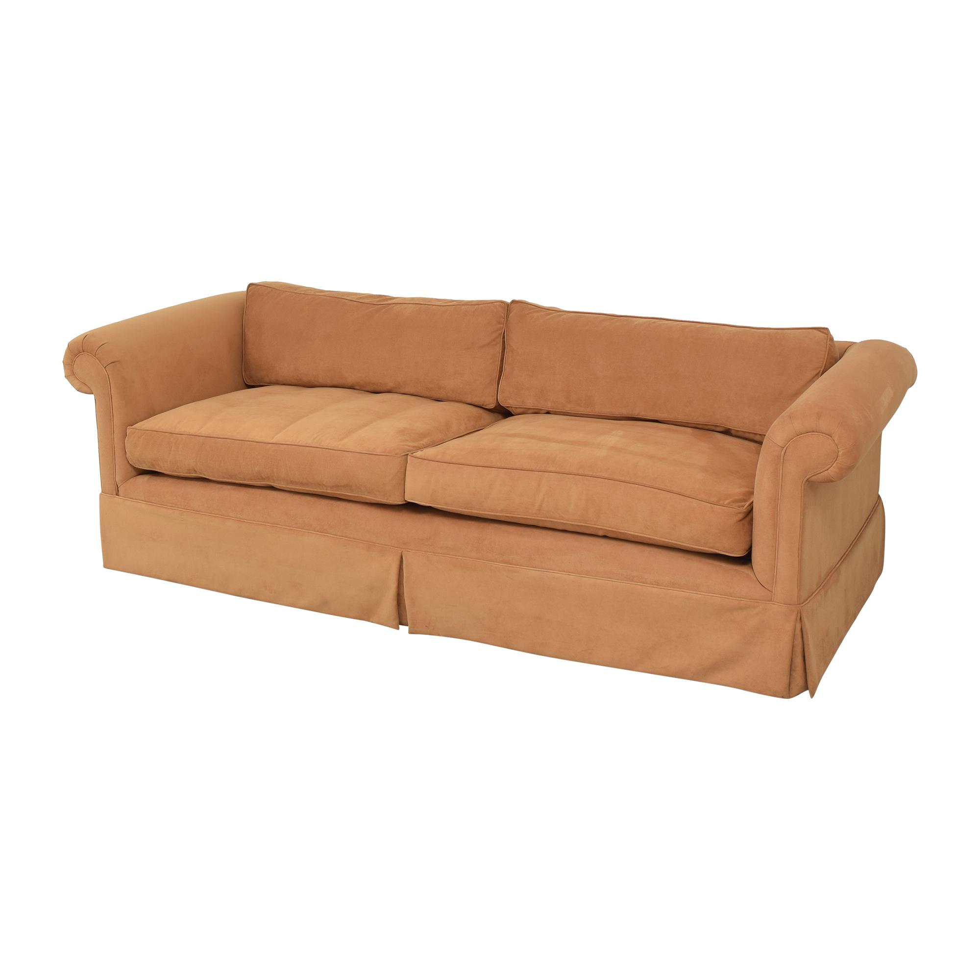 Custom Roll Arm Sofa on sale