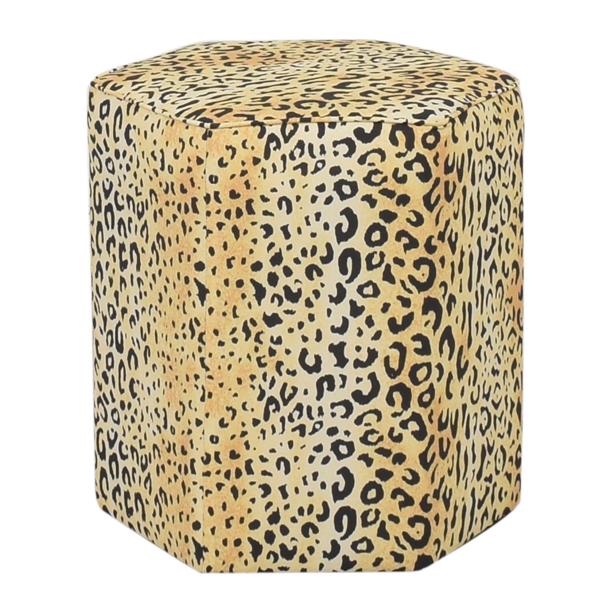 The Inside The Inside Leopard Hexagonal Ottoman used