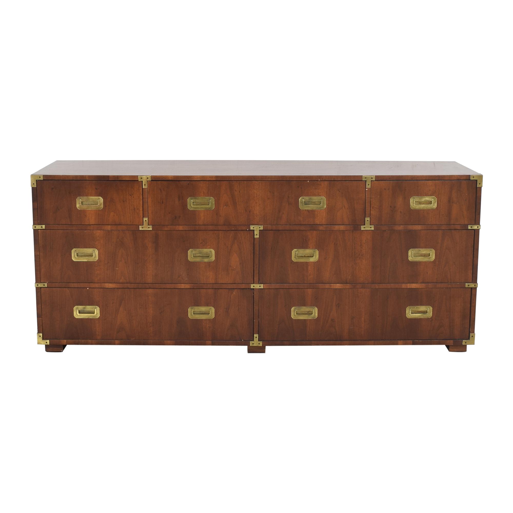 shop Henredon Scene I Campaign Seven Drawer Dresser Henredon Furniture Dressers