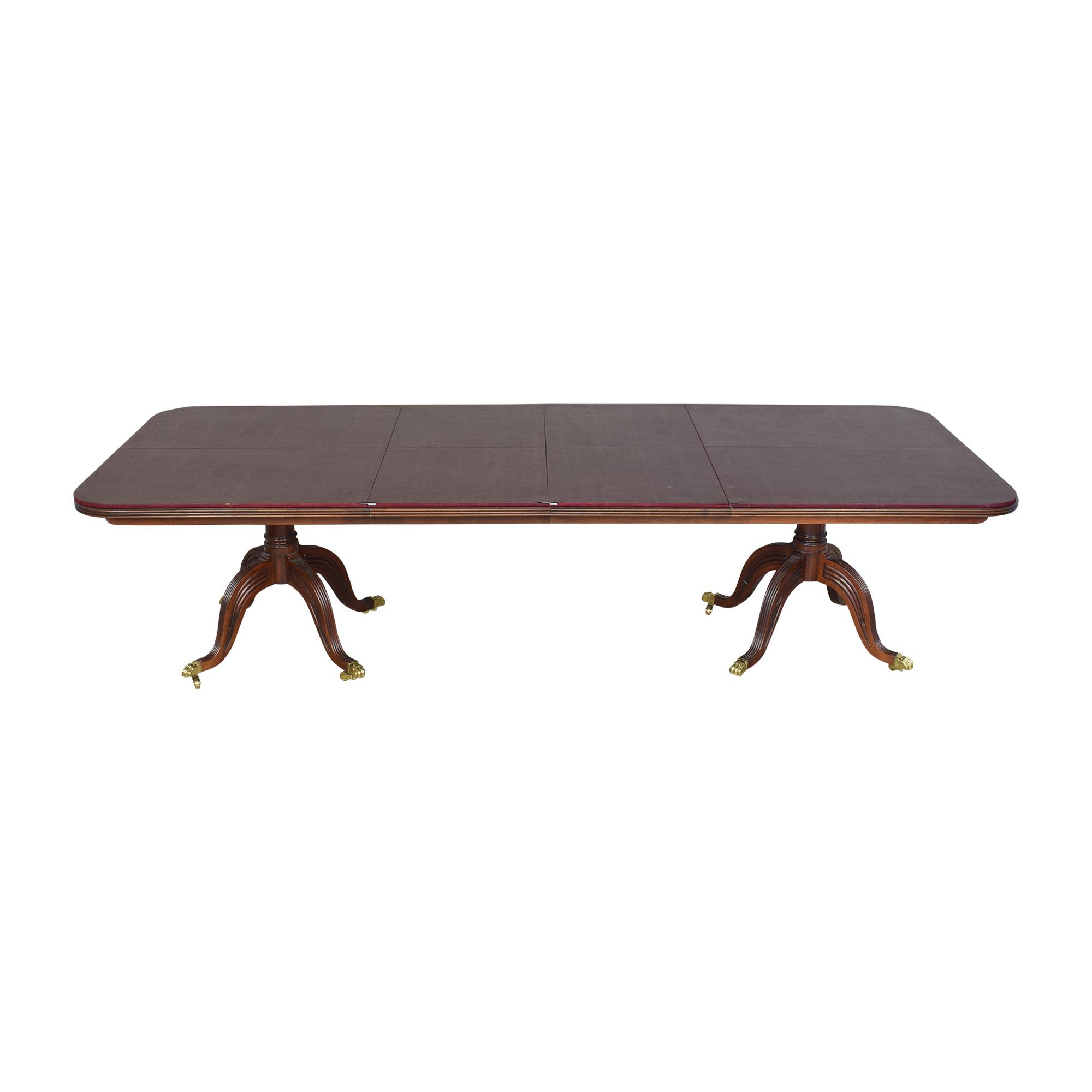 Henredon Double Pedestal Extendable Dining Table sale
