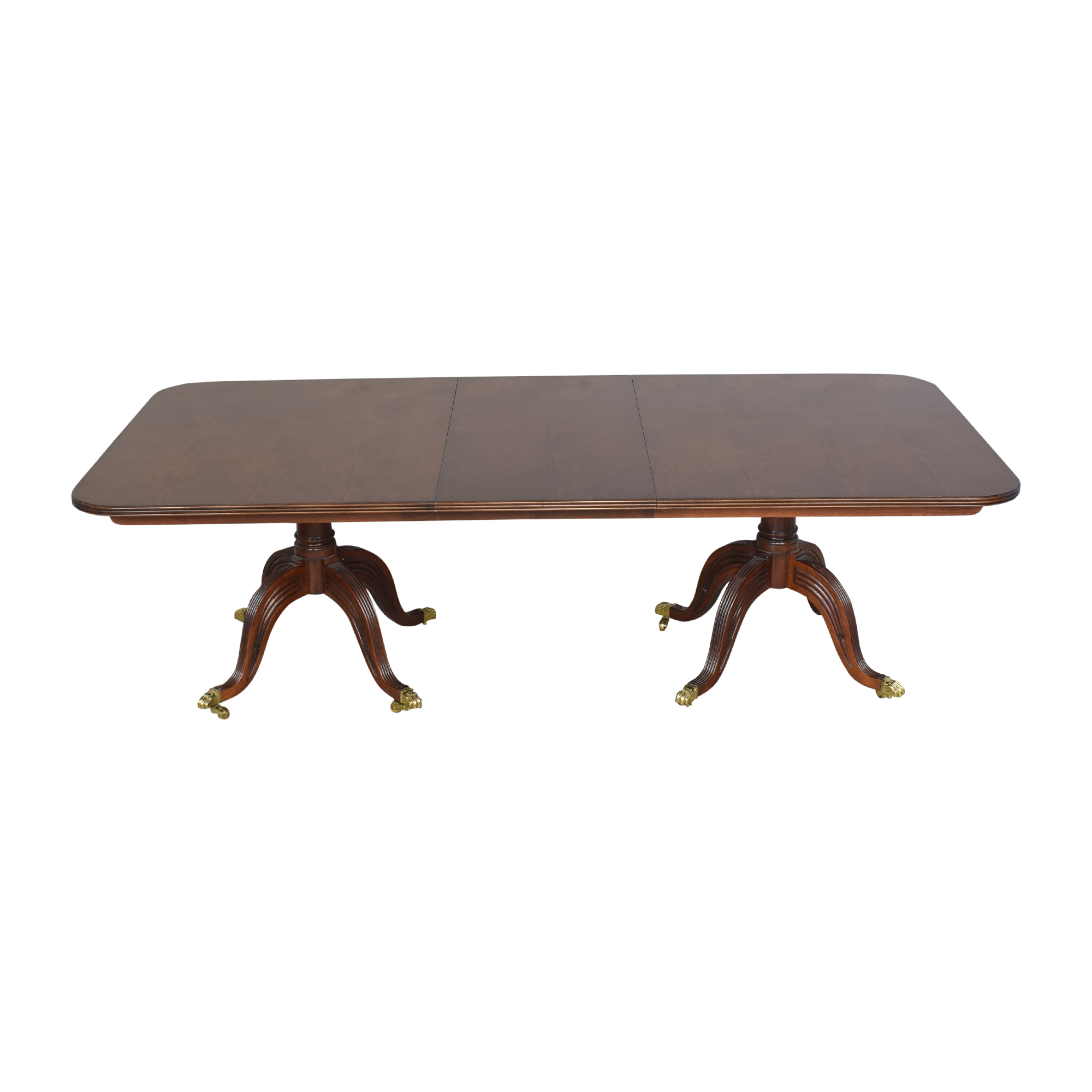 Henredon Furniture Henredon Double Pedestal Extendable Dining Table nj