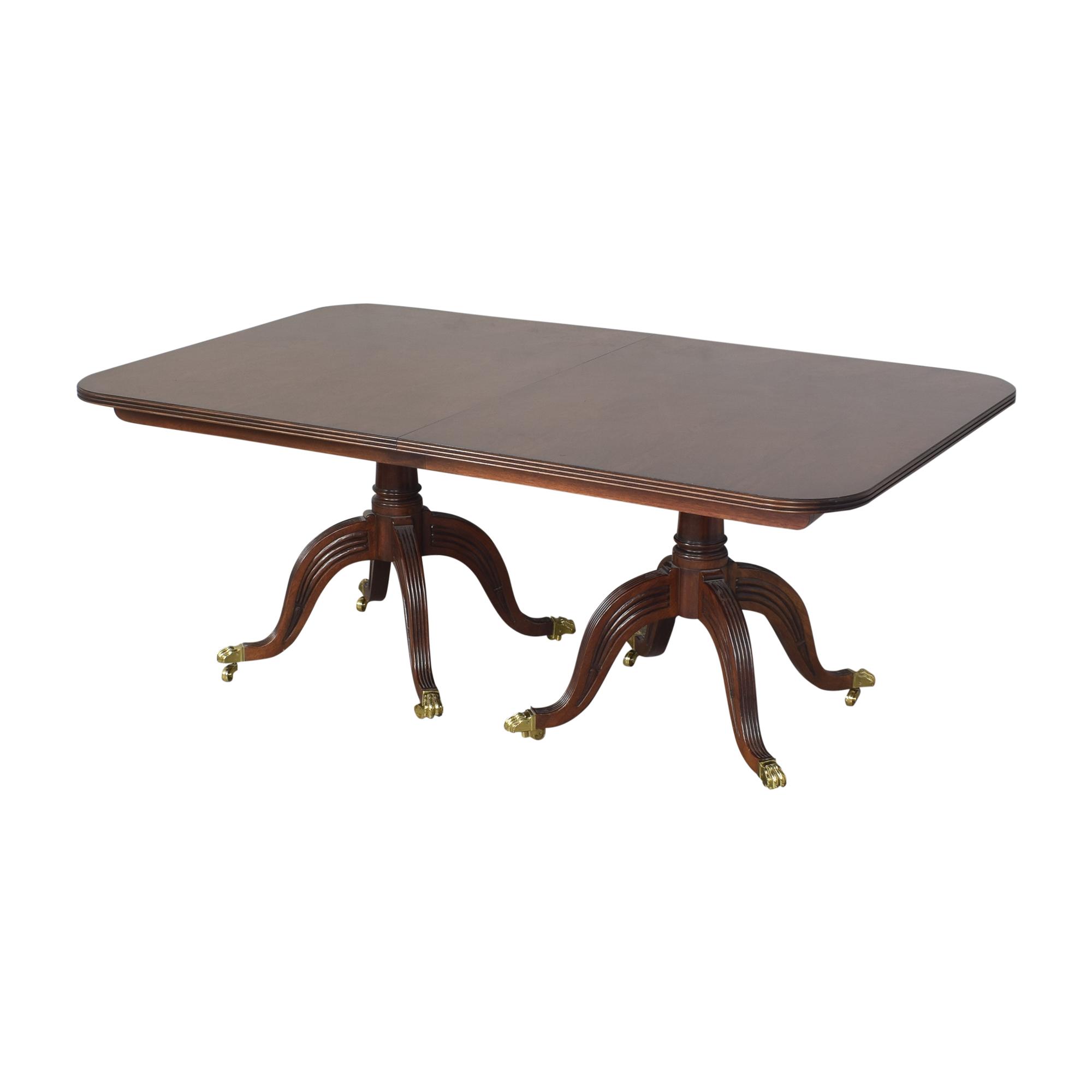 shop Henredon Double Pedestal Extendable Dining Table Henredon Furniture Tables