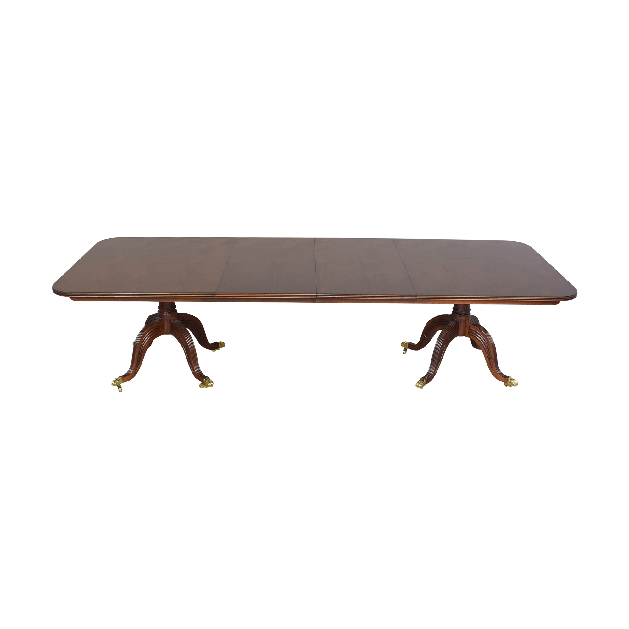 Henredon Furniture Henredon Double Pedestal Extendable Dining Table discount