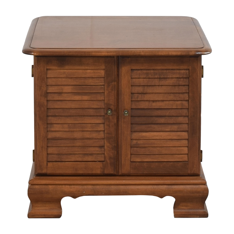 shop Ethan Allen Louvered Record Cabinet Ethan Allen End Tables