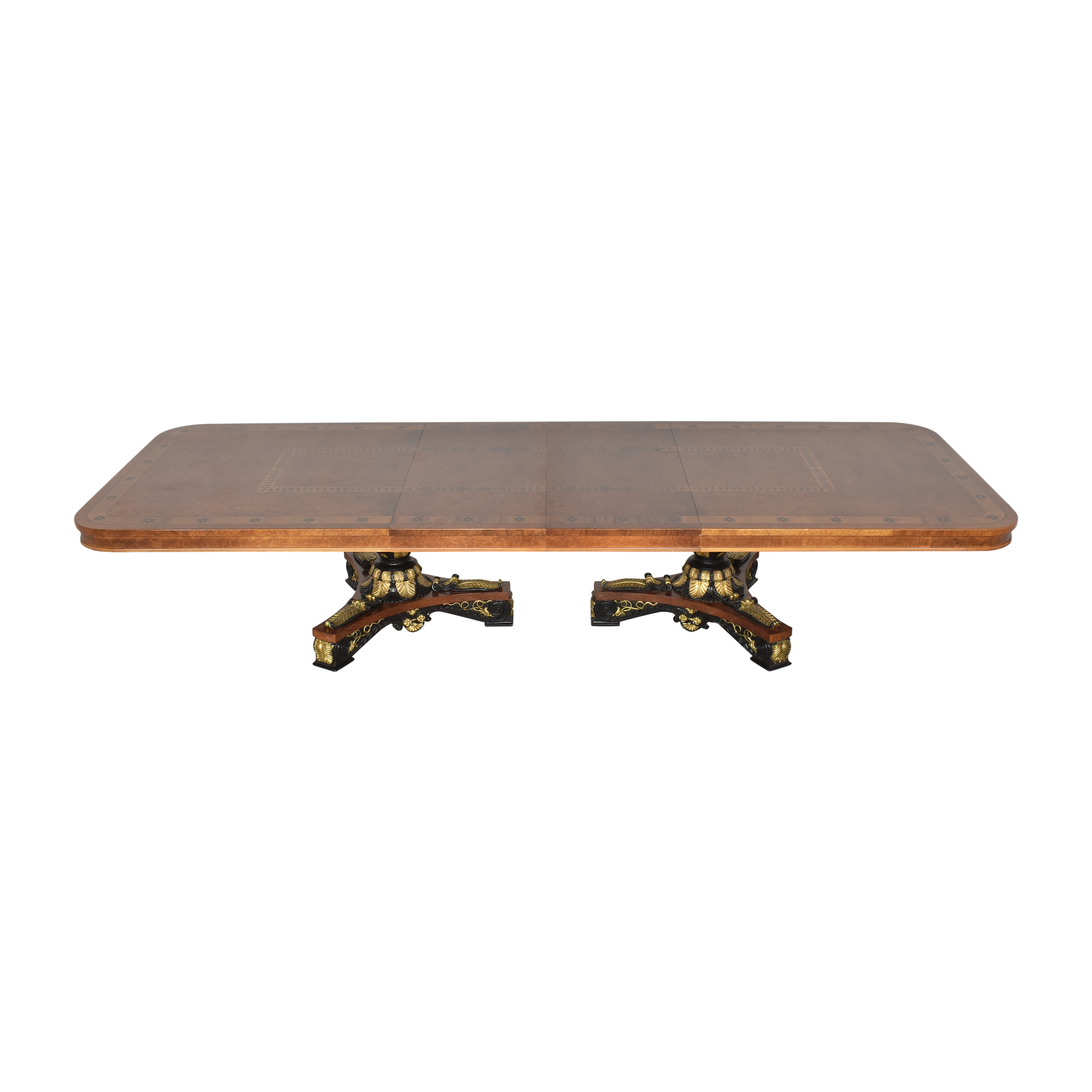 Inlaid Extendable Dining Table sale