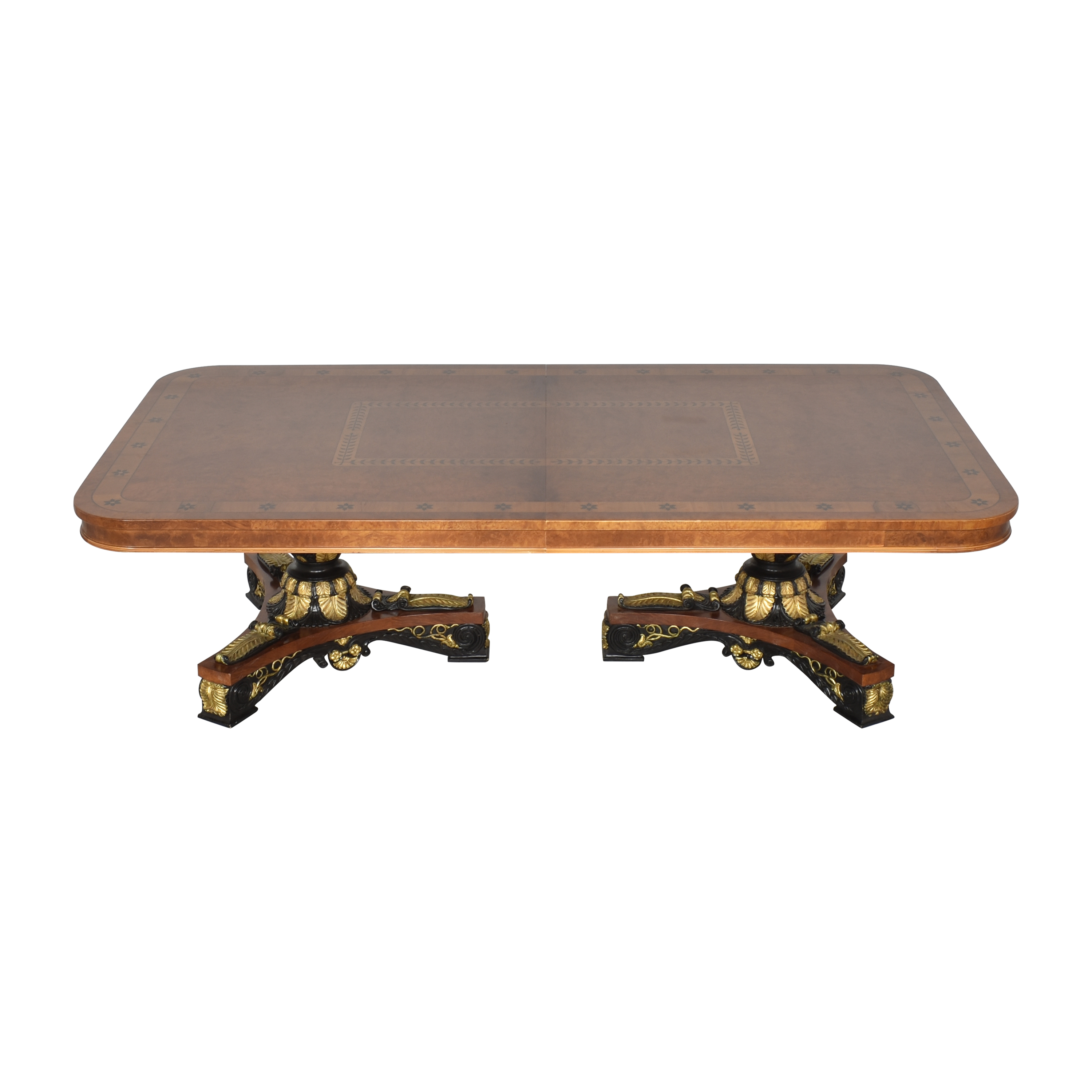 Inlaid Extendable Dining Table ma