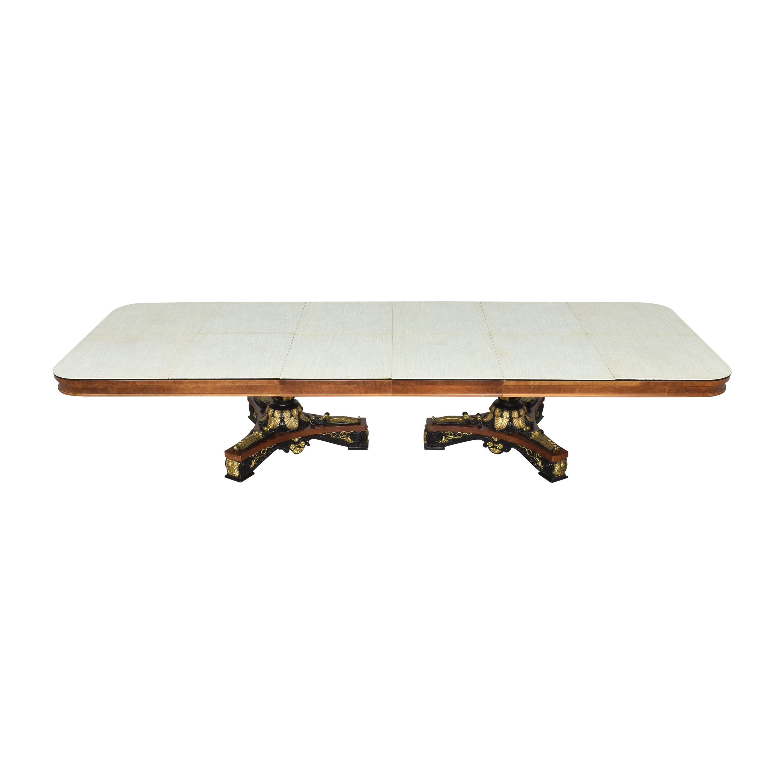 Inlaid Extendable Dining Table used