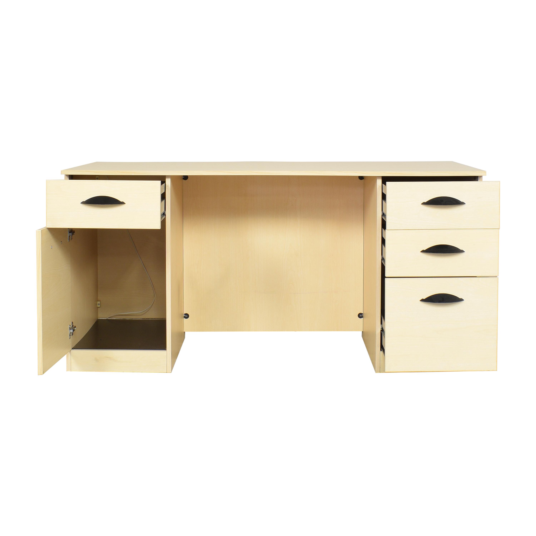 shop Hon Double Pedestal Desk Hon Home Office Desks