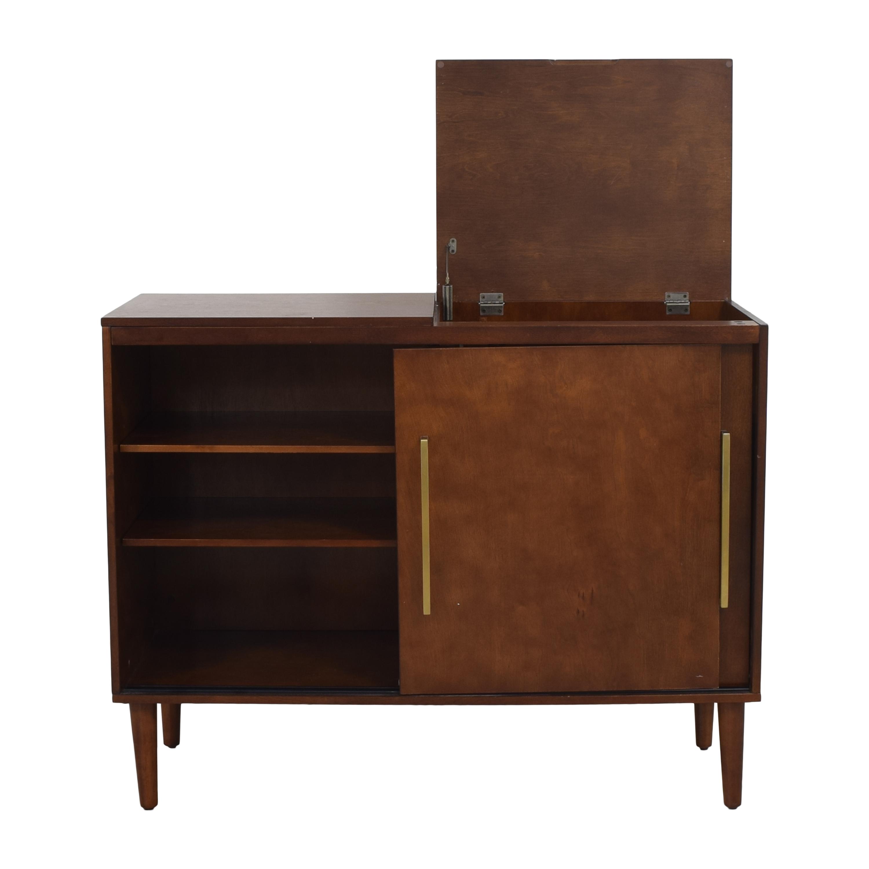 Crosley Furniture Crosley Furniture Everett Mid Century Modern Media Console Storage