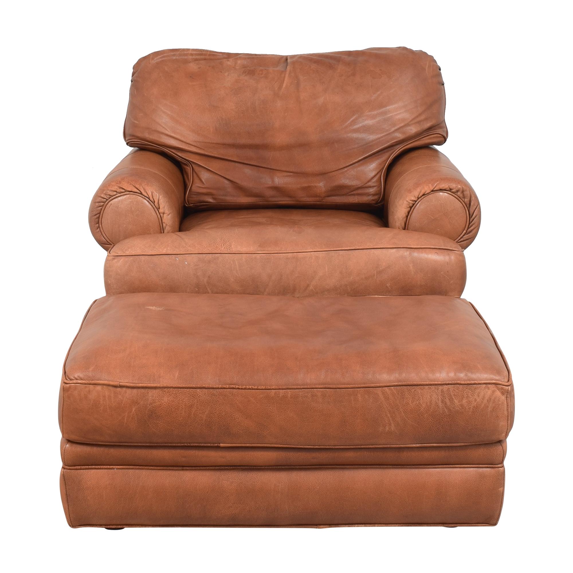 Lexington Furniture Lexington Club Chair with Ottoman brown