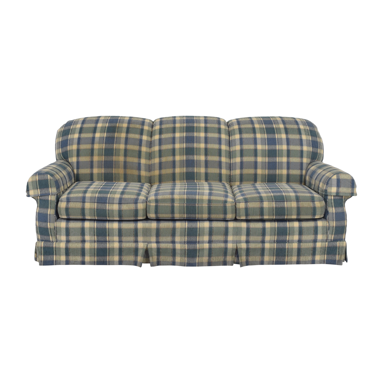 Clayton Marcus Clayton Marcus Plaid Three Cushion Sofa on sale