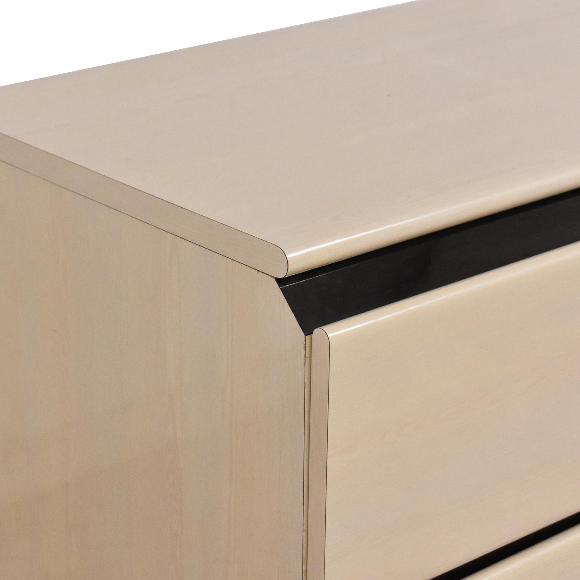 Modern Two Drawer Desk on sale
