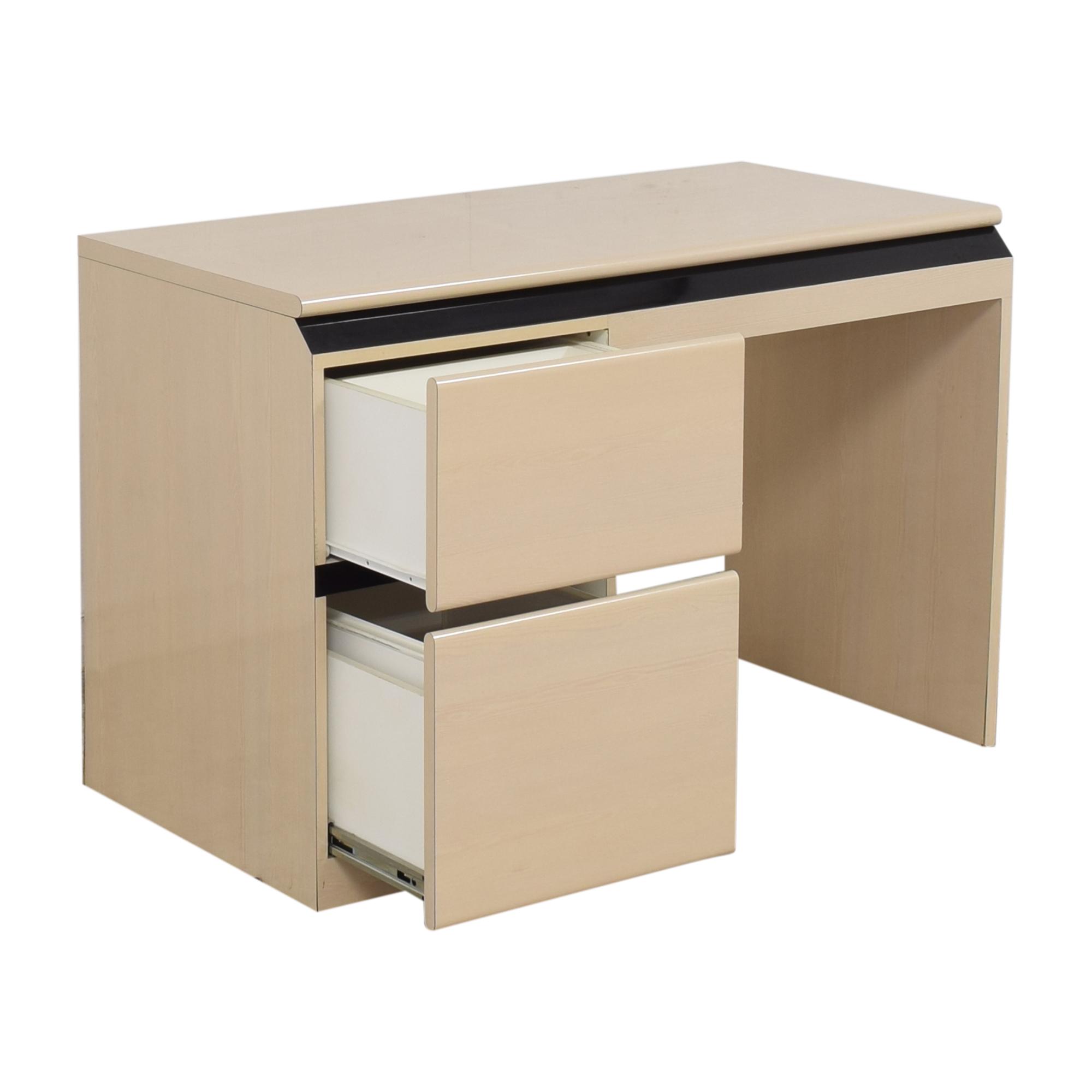 Modern Two Drawer Desk ct
