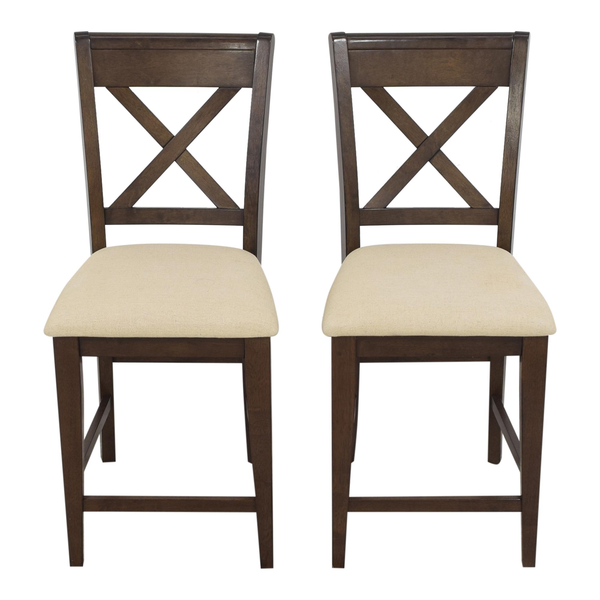 Raymour & Flanigan Upholstered Stools / Stools