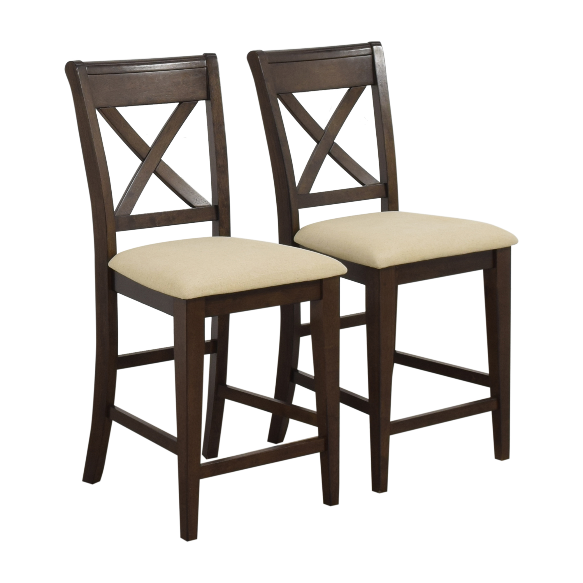 Raymour & Flanigan Raymour & Flanigan Upholstered Stools discount