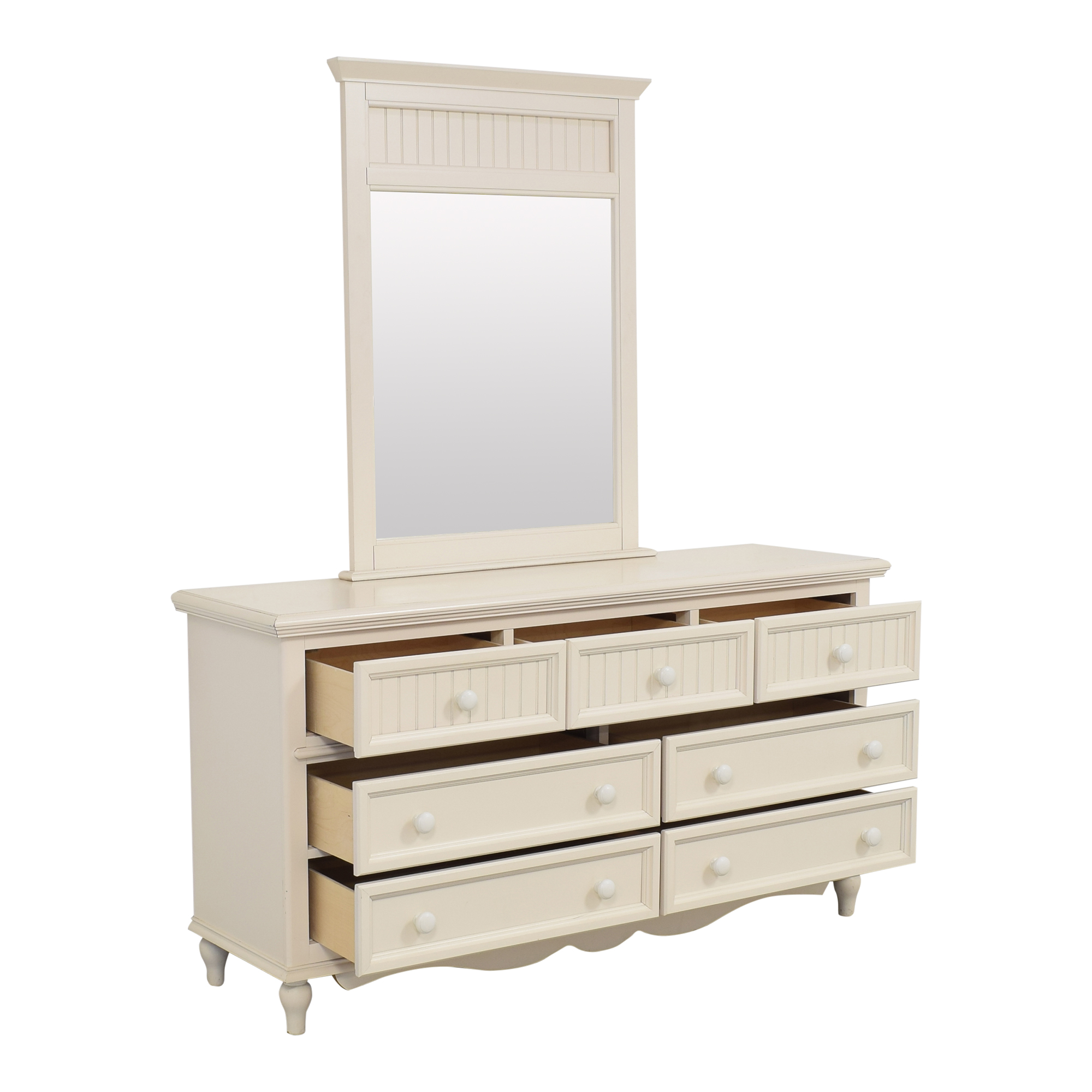 buy Bassett Furniture Bassett Wide Dresser with Mirror online