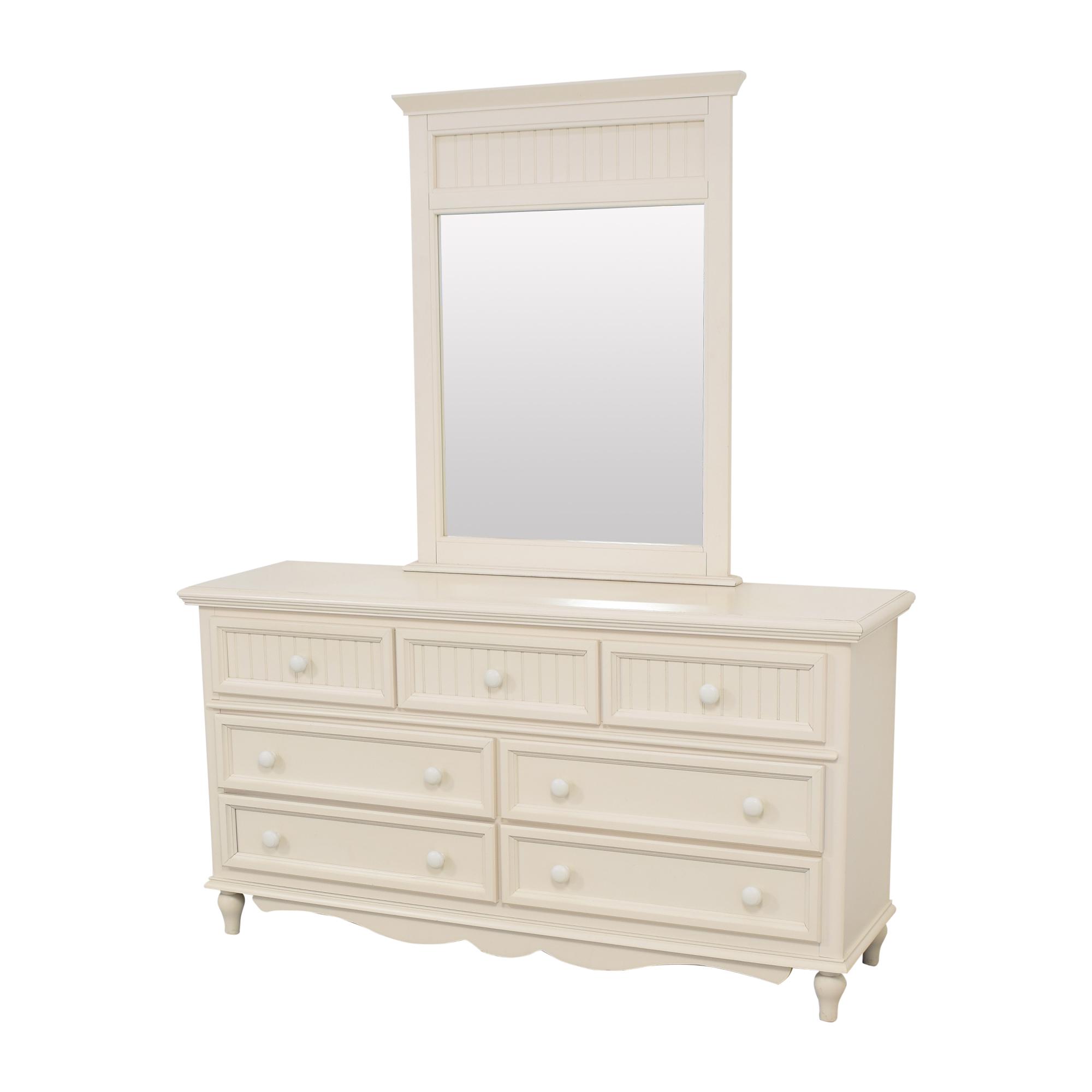 Bassett Wide Dresser with Mirror Bassett Furniture